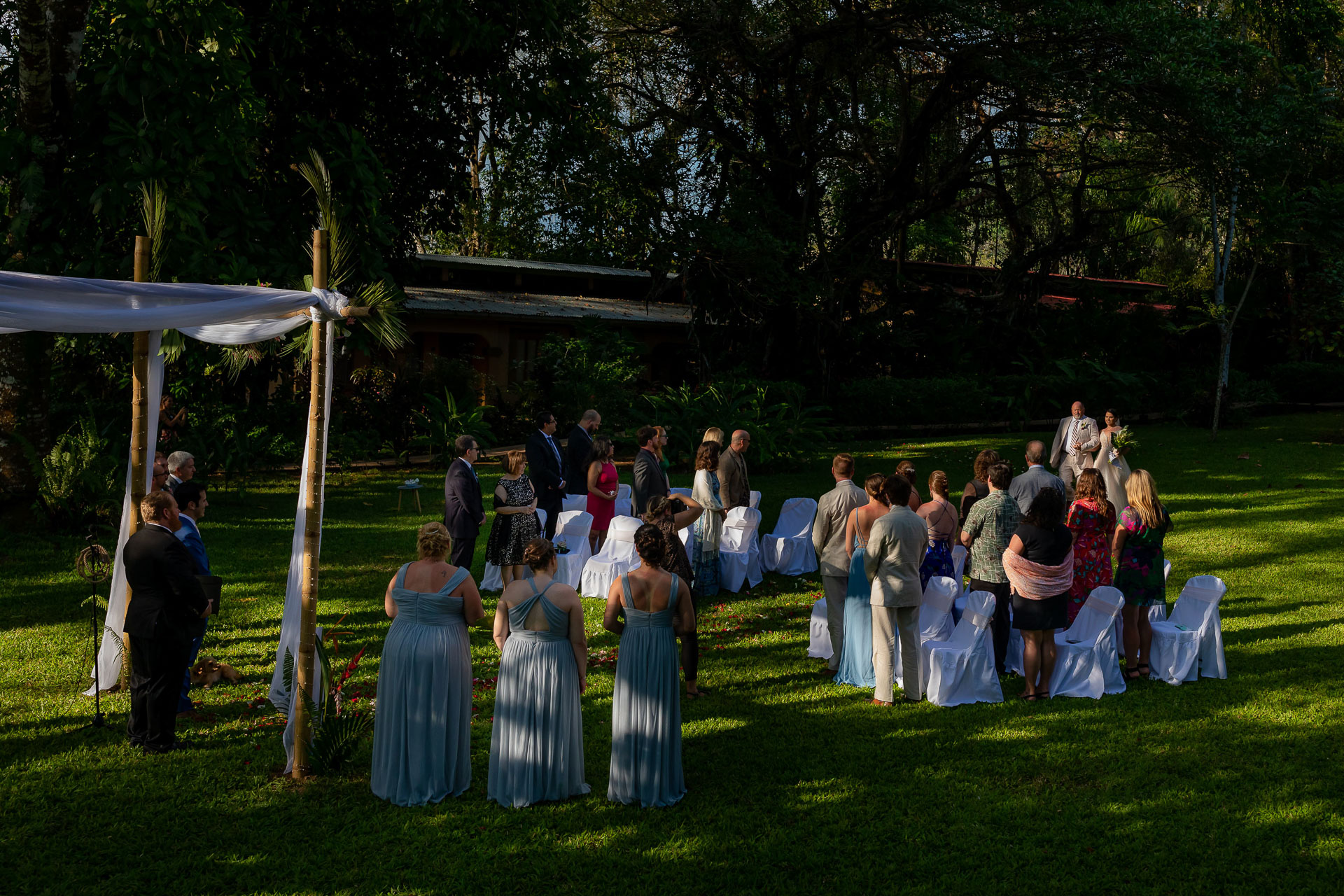 Jaco, Costa Rica Outdoor Elopement Ceremony Image   a small ceremony early in the afternoon