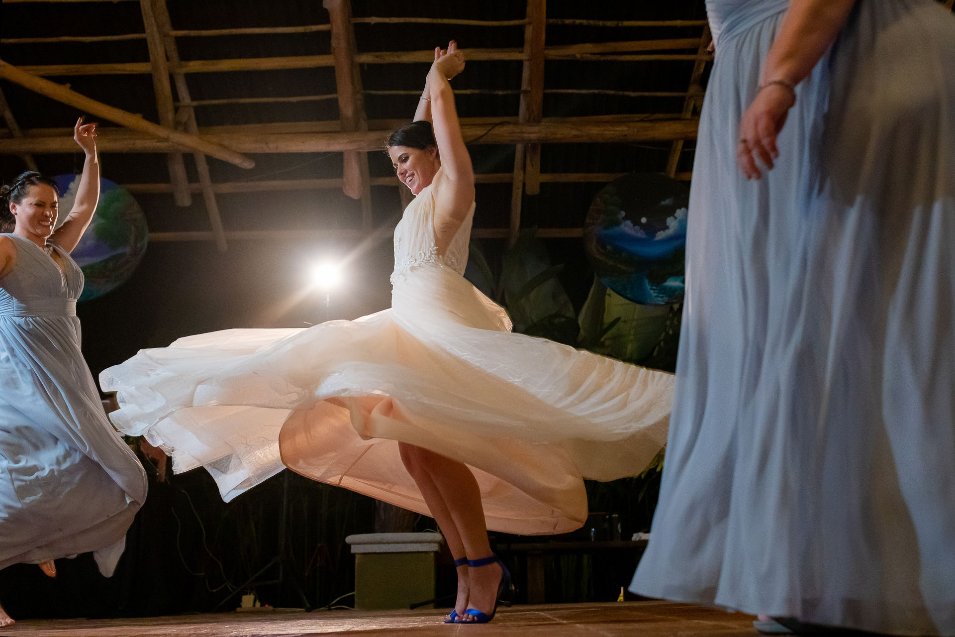 Costa Rica Wedding Elopement Reception Picture   the bride tore it up on the dance floor