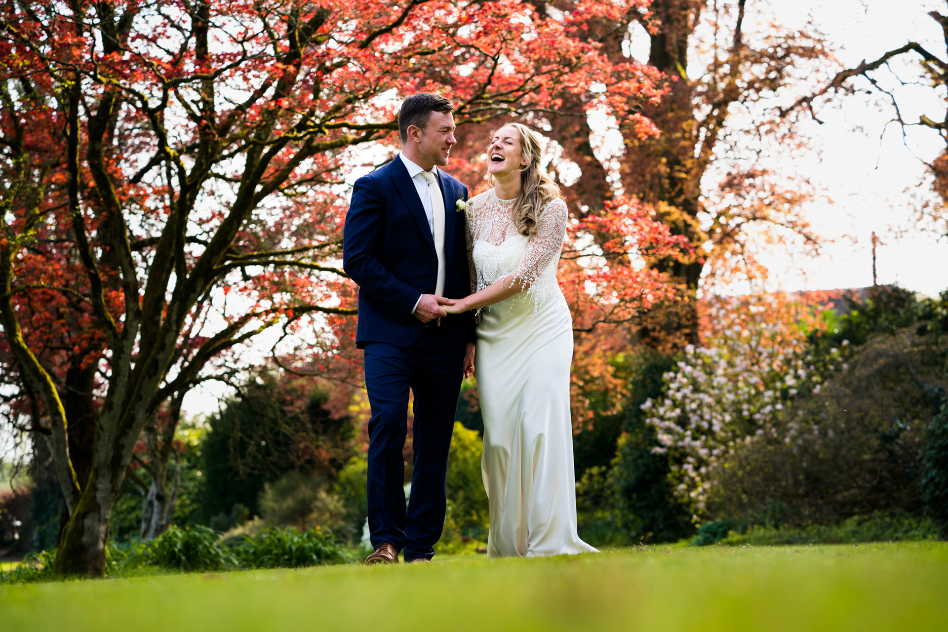 Devon Elopement Couple Relaxed Portrait Session | The bride and groom cannot contain their joy