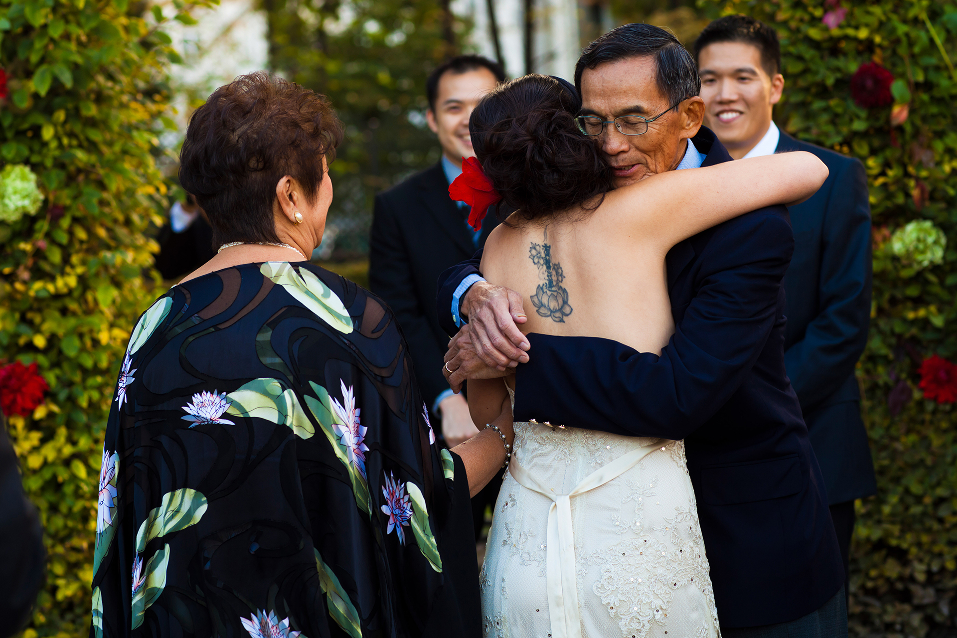 France Outdoor Elopement Ceremony Photography | the bride at the altar with her future husband