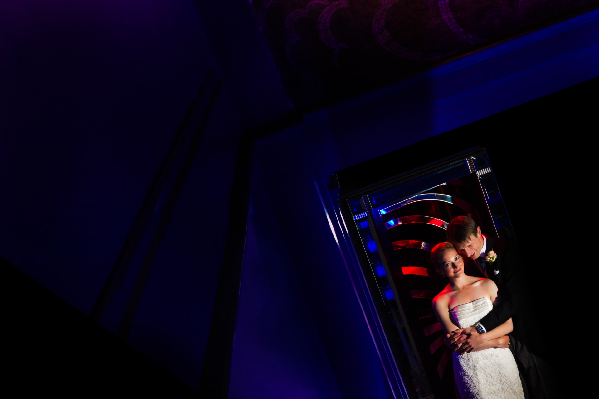 Sketch Restaurant - London Elopement Venue Images | At last alone, the bride and groom stand together