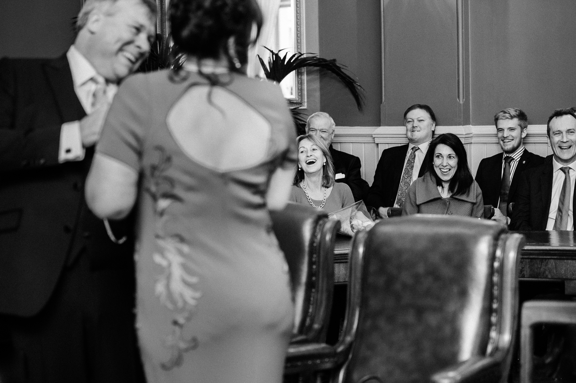 Brighton Town Hall, UK Elopement Ceremony Image | a happy and relaxed ceremony