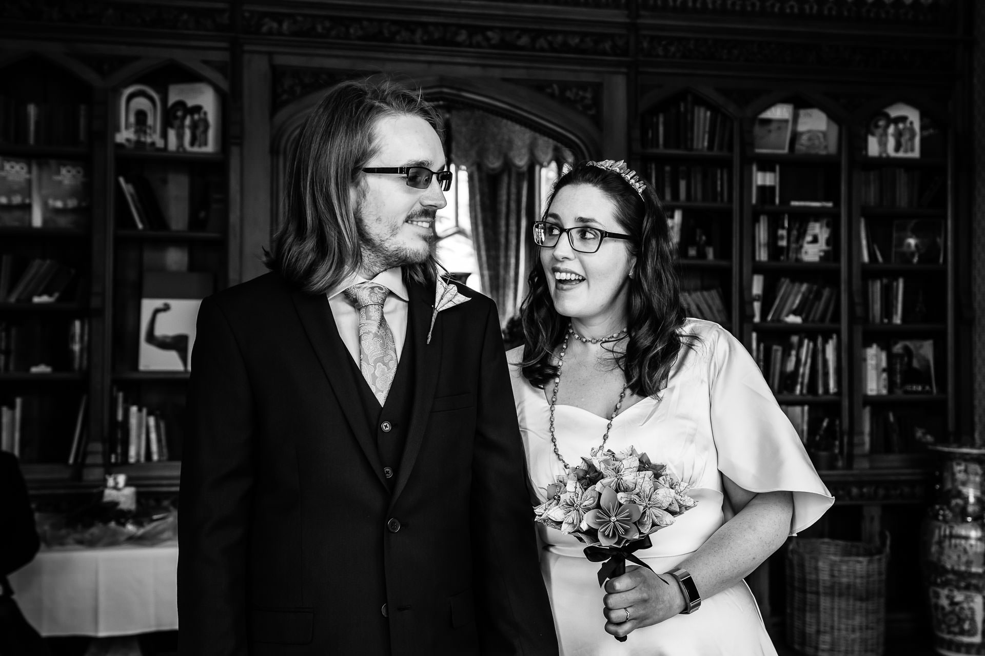 United Kingdom Elopement Couple Photo | The newlywed couple during their elopement ceremony
