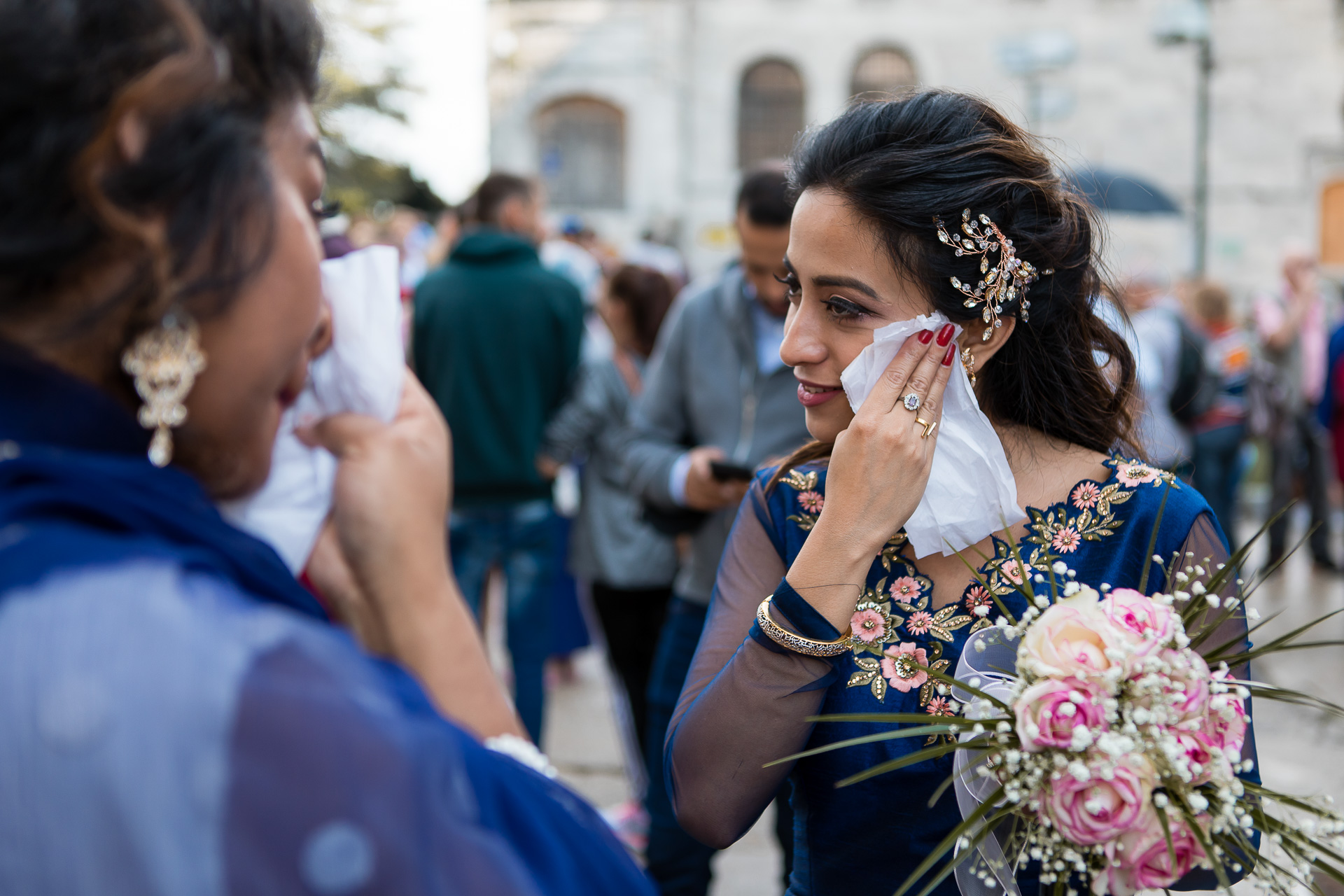 Istanbul Elopement Photography | The bride in her traditional Pakistani wedding dress