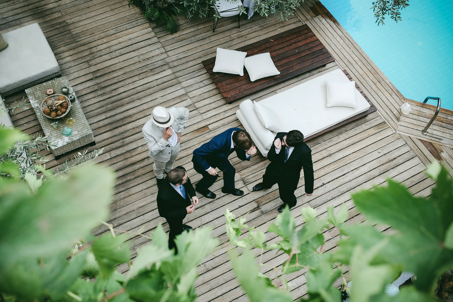 Oyster Residences, Blue Lagoon Elopement Image | friends are dancing when the bride is getting ready