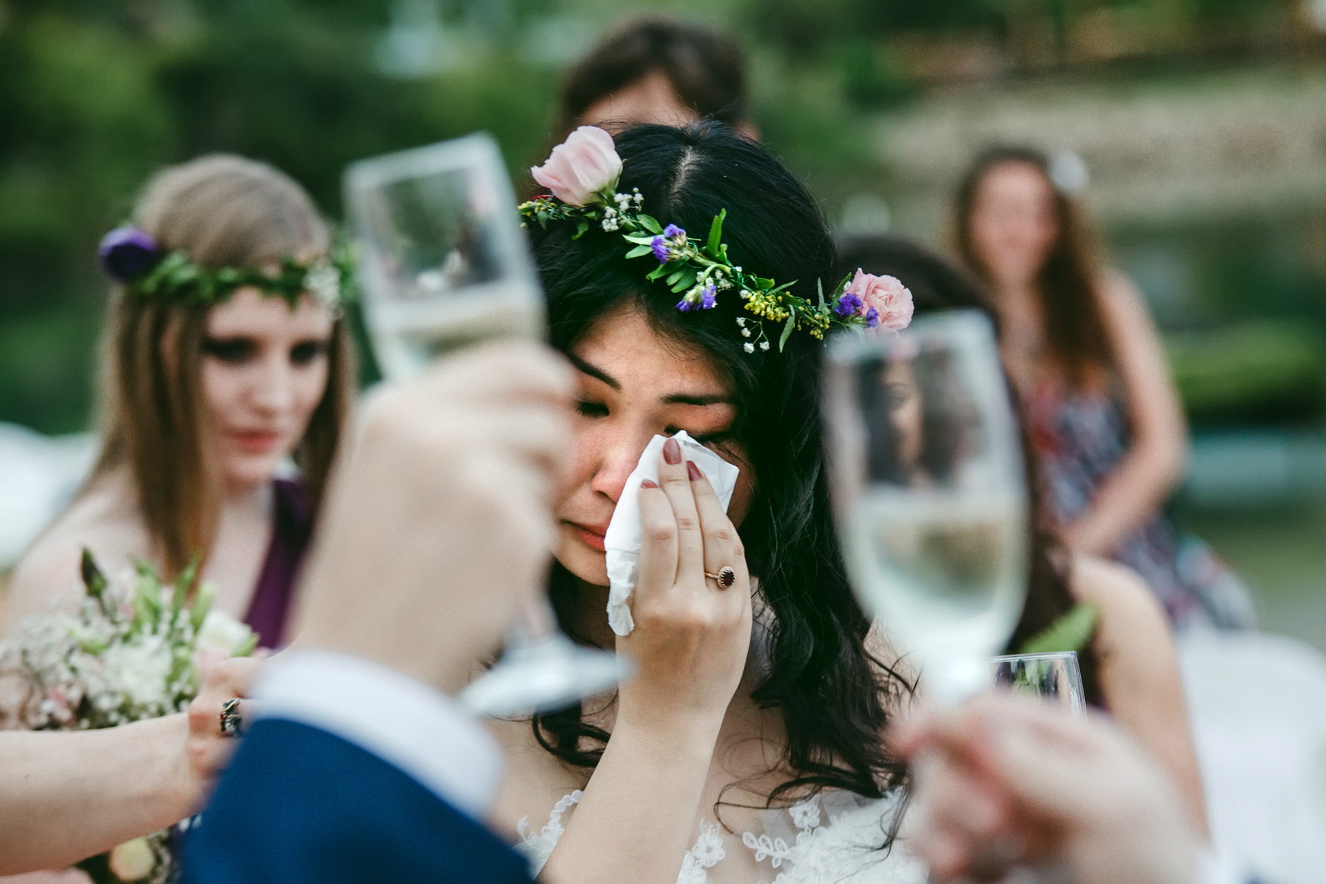 Turkey Elopement Beach Ceremony Photographer | The bride started to cry, for about the millionth time that day