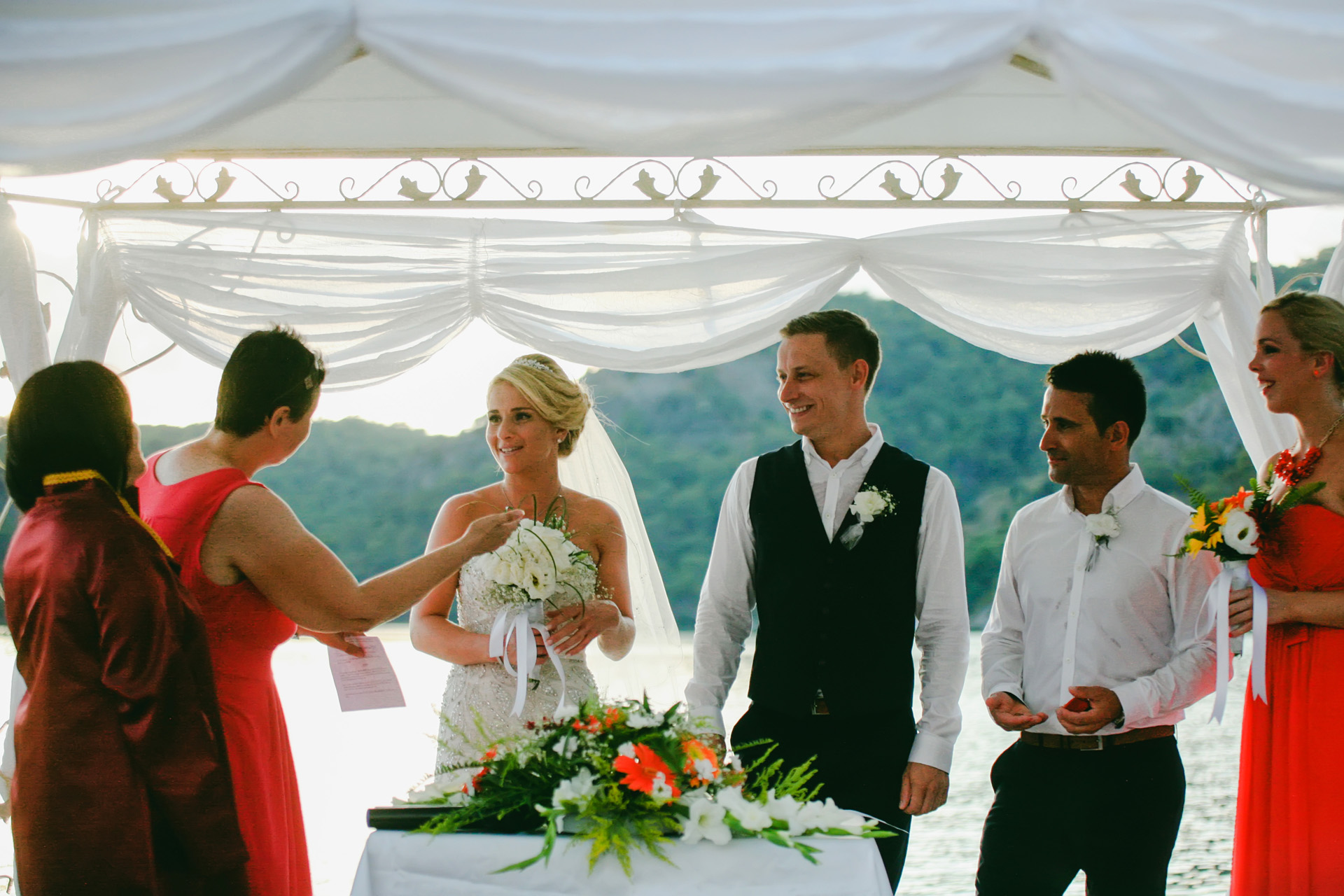 Turkey Destination Elopement Ceremony Photographer | The couple's wedding planner helps out in more ways than one