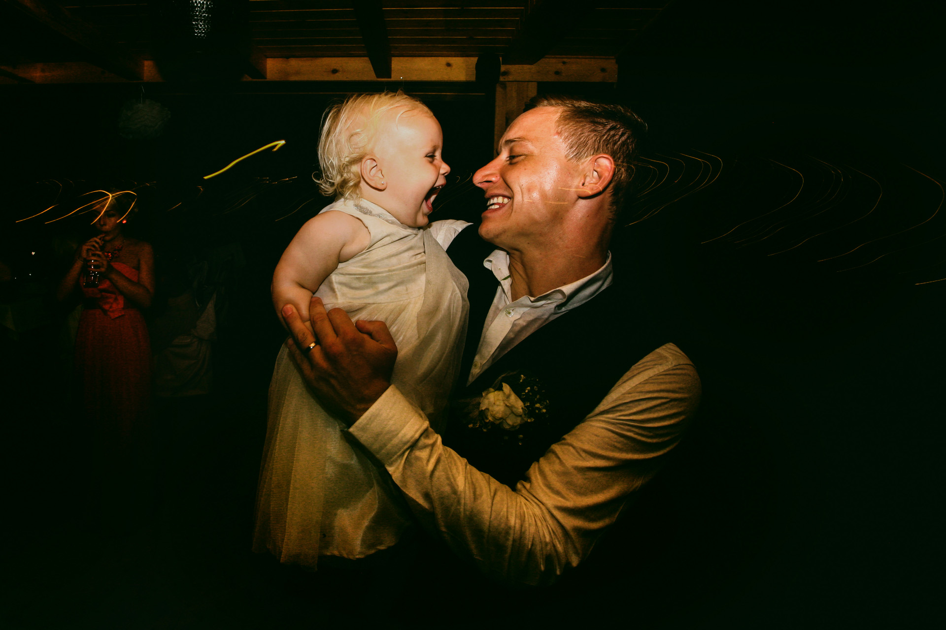 Sea Horse Beach Club, Turkey Destination Elopement Image | the groom shares a dance with his little daughter