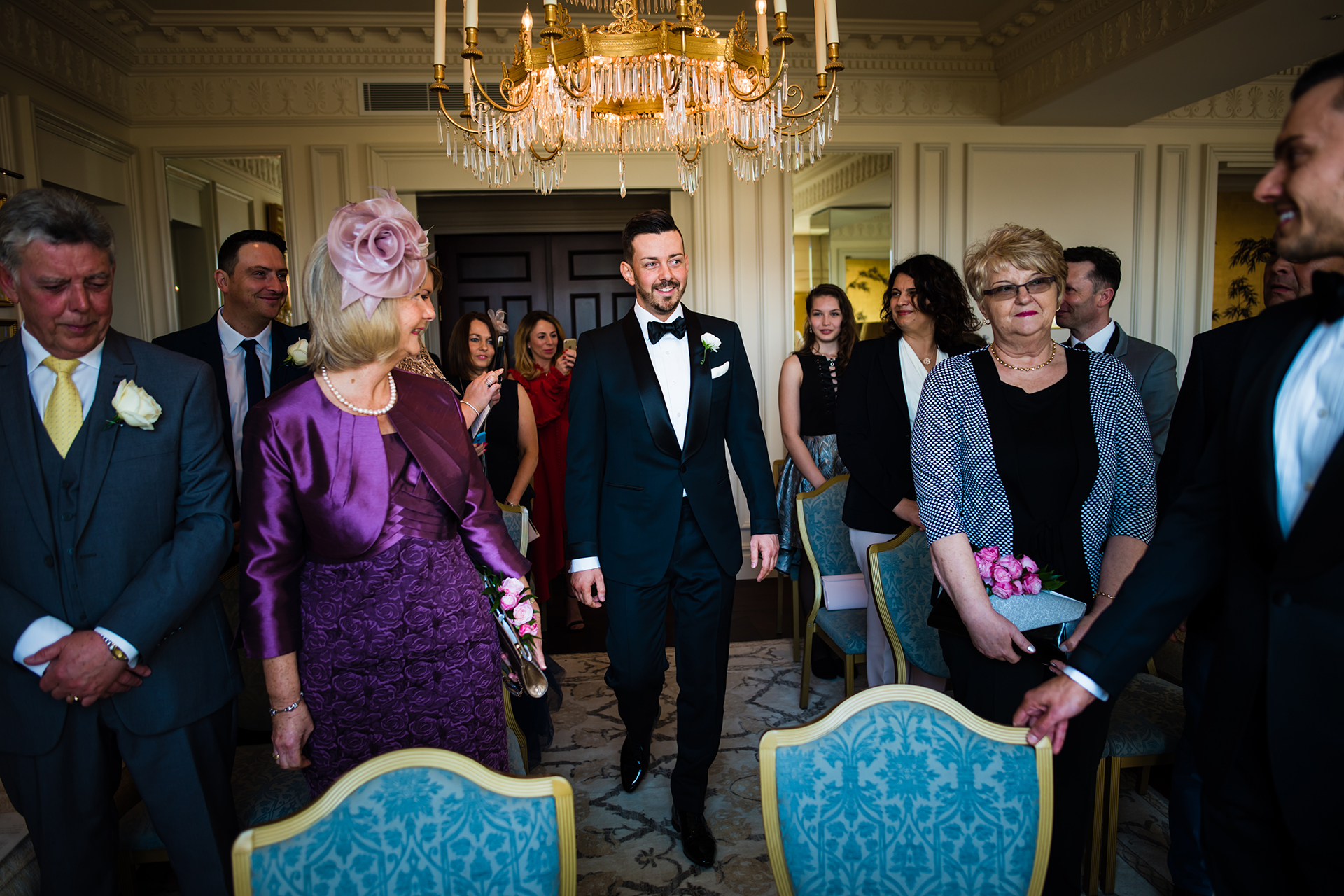 The Savoy Hotel - England Elopement Ceremony Image | arriving at the ceremony