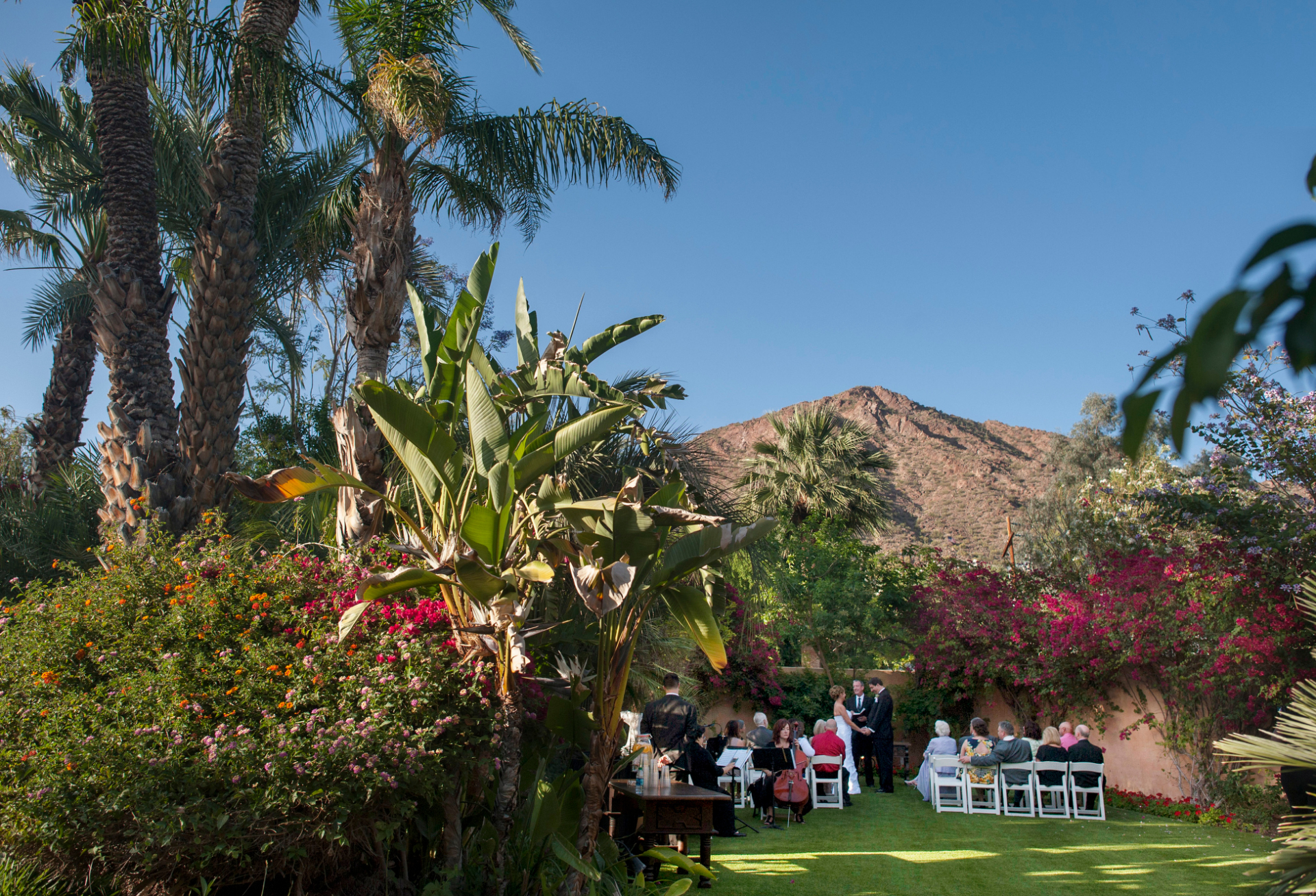 Royal Palms Resort and Spa- Phoenix, Arizona Elopement Ceremony Picture | the intimacy and beauty of this ceremony are evident