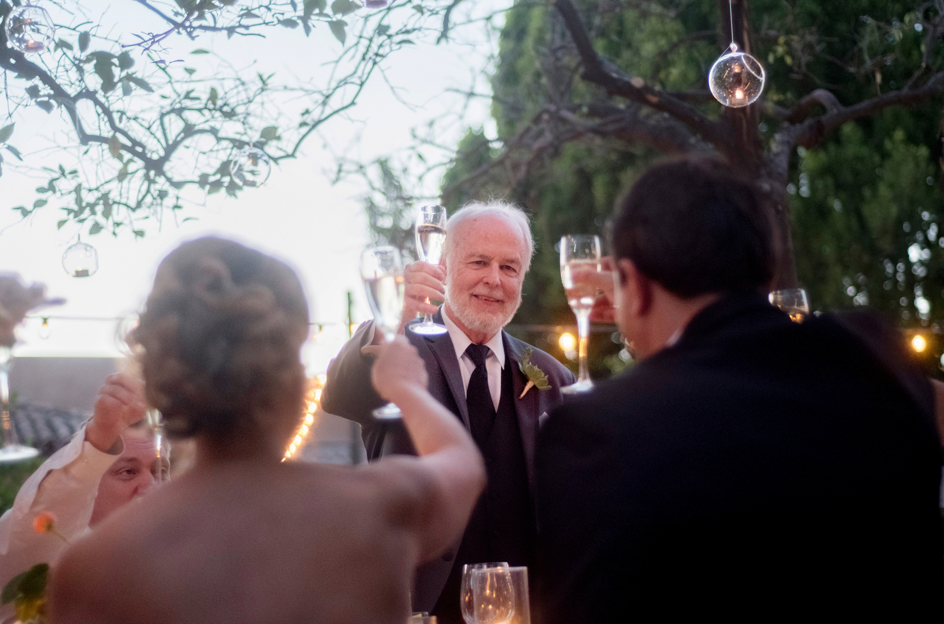 AZ Elopement Image | the guests toast the couple and everyone shares champagne