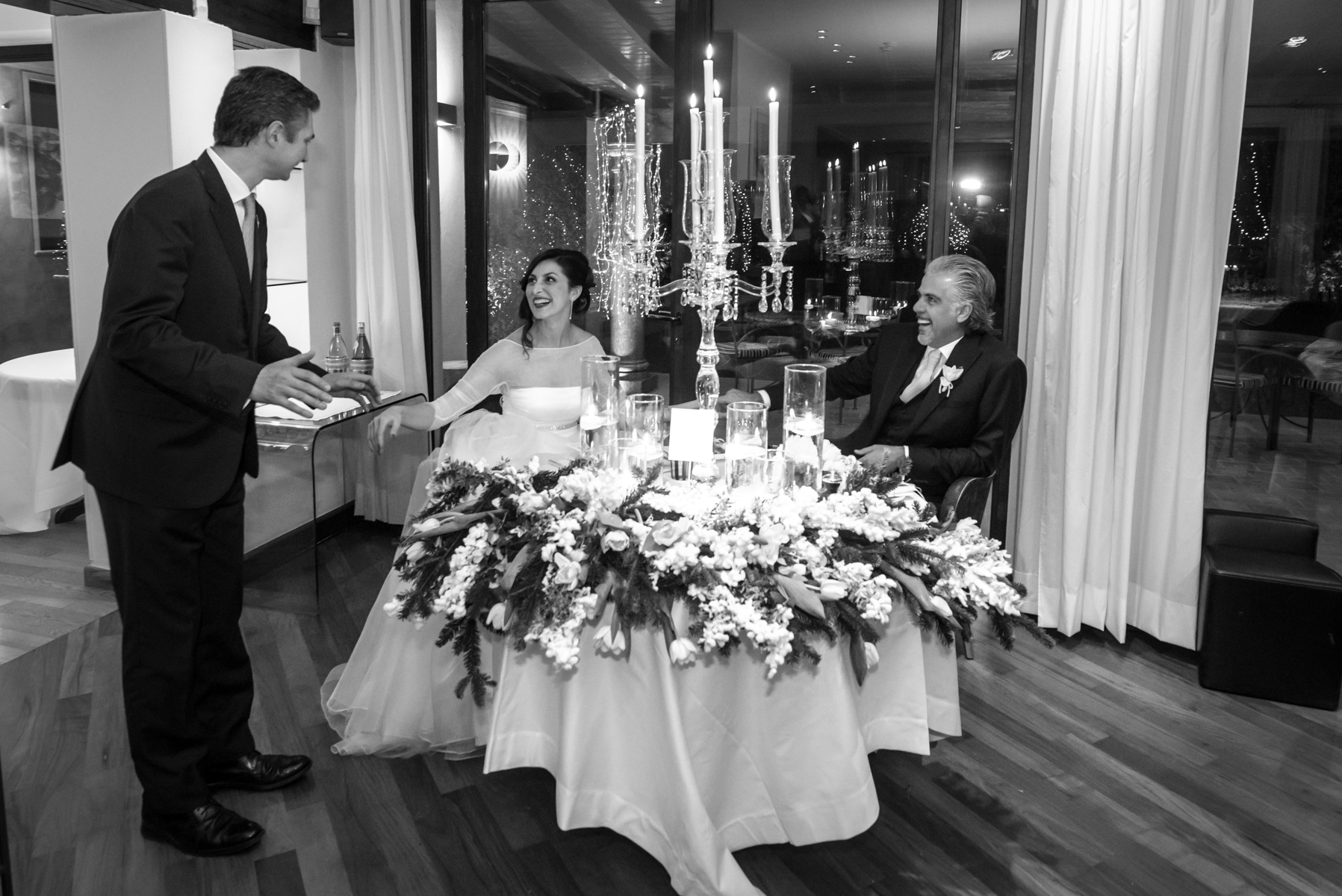 Dal Pescatore Restaurant Elopement Venue Image - Mantua, Italy | The newlyweds and the few guests take their places at the tables