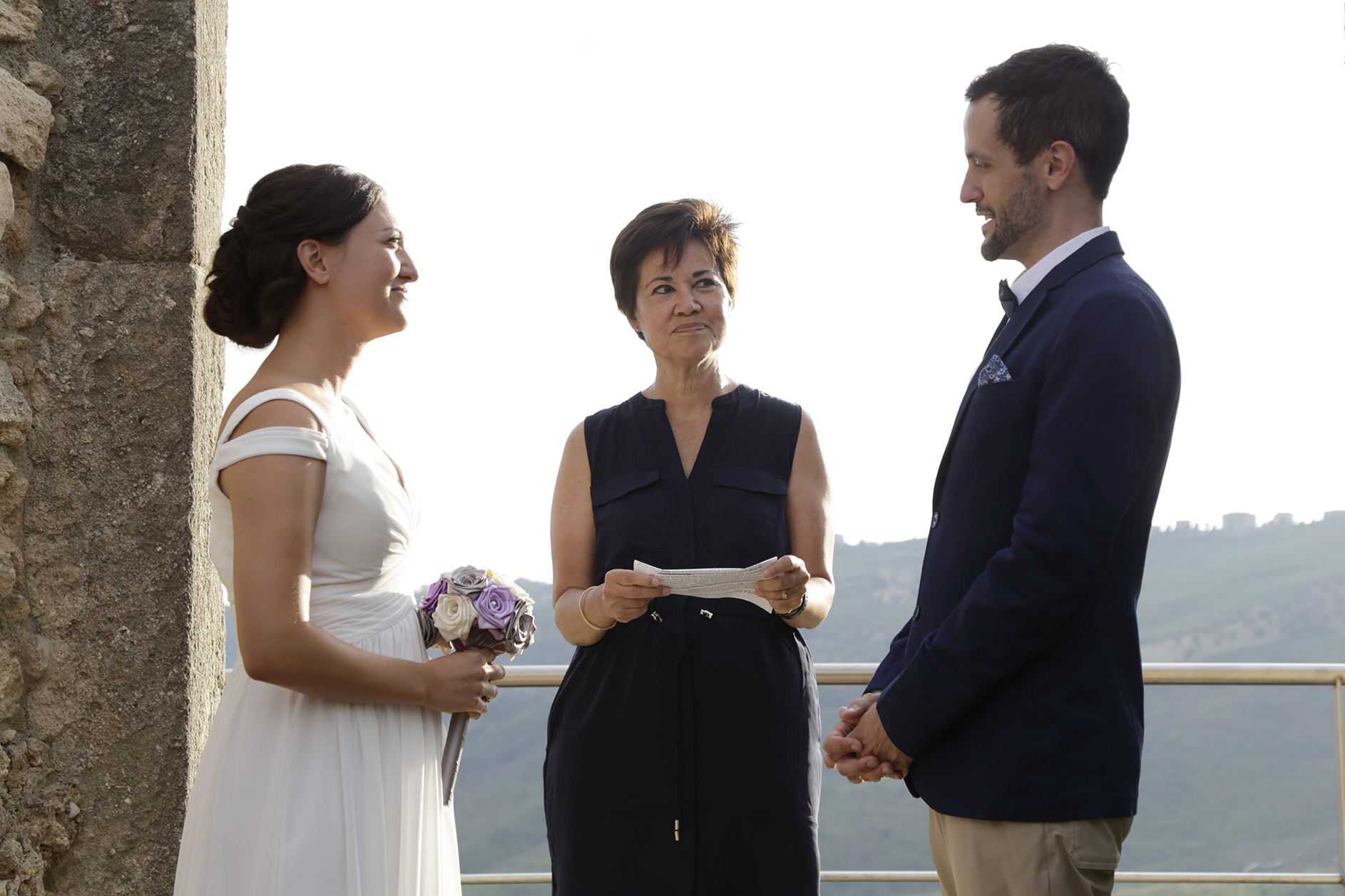 Cleto, Cosenza, Calabria, Italy Outdoor Elopement Ceremony Image | The couple exchanging vows