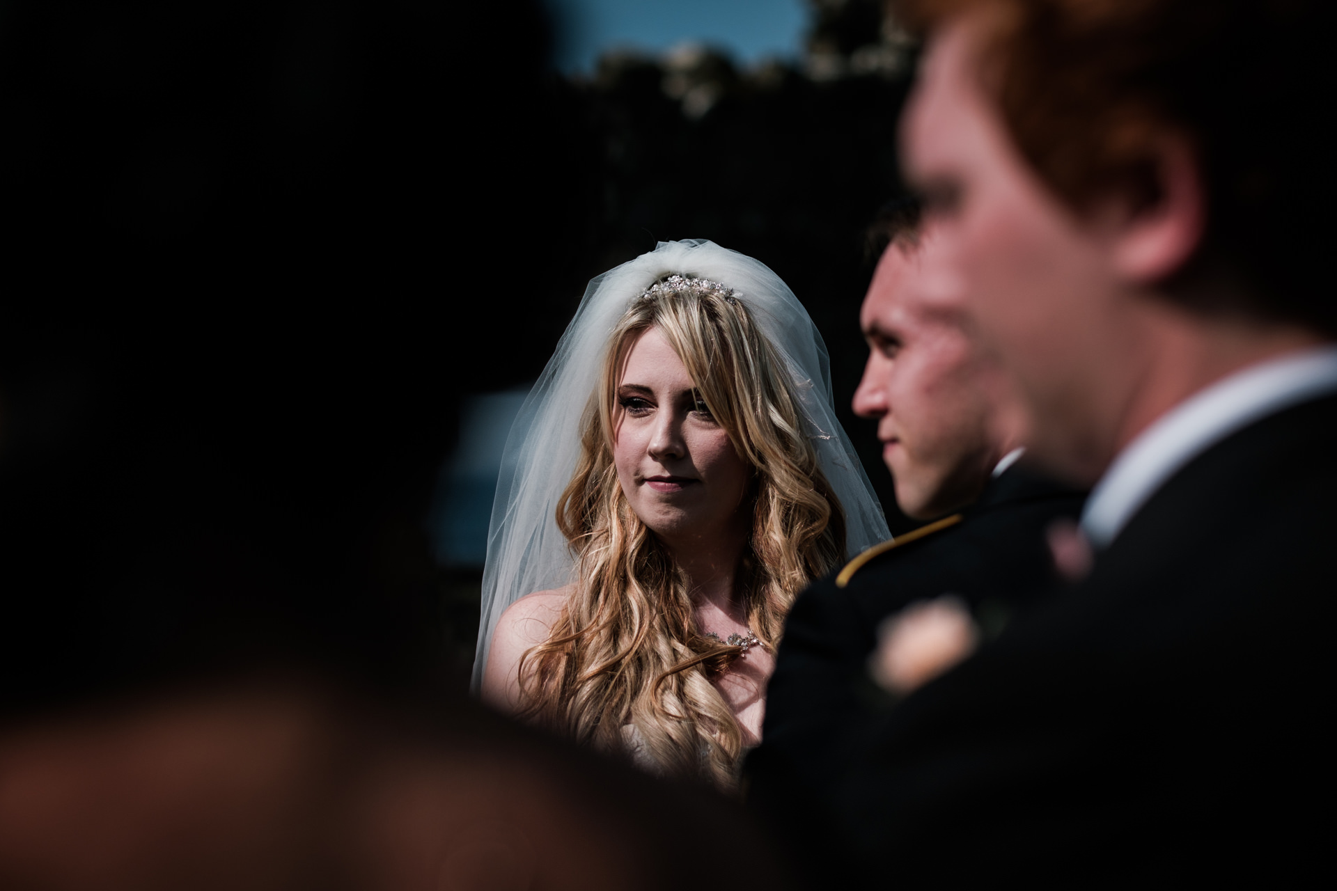 Dunluce Castle Outdoor Elopement Ceremony Pictures | image of the bride in the sunshine