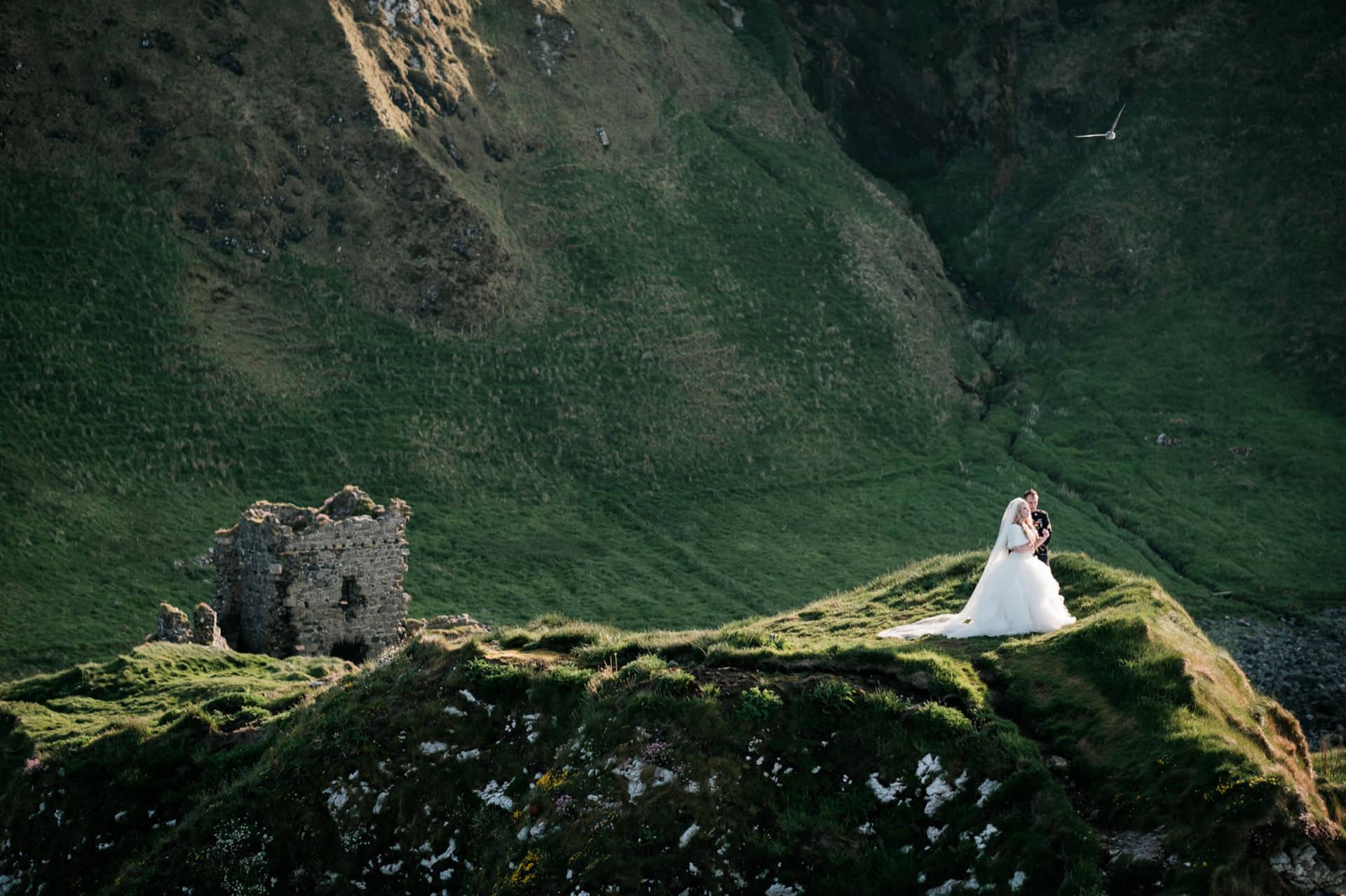 Kinbane Head, Couple Portraits from Northern Ireland | Portrait of the couple at Kinbane Head