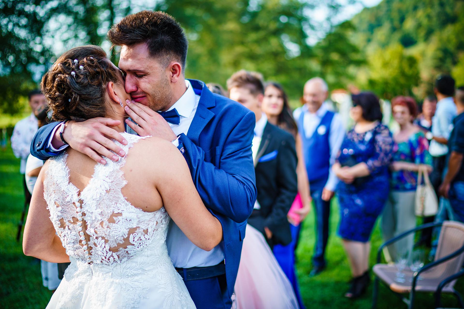 Bulgaria Elopement Photographer | the bride hugs her brother