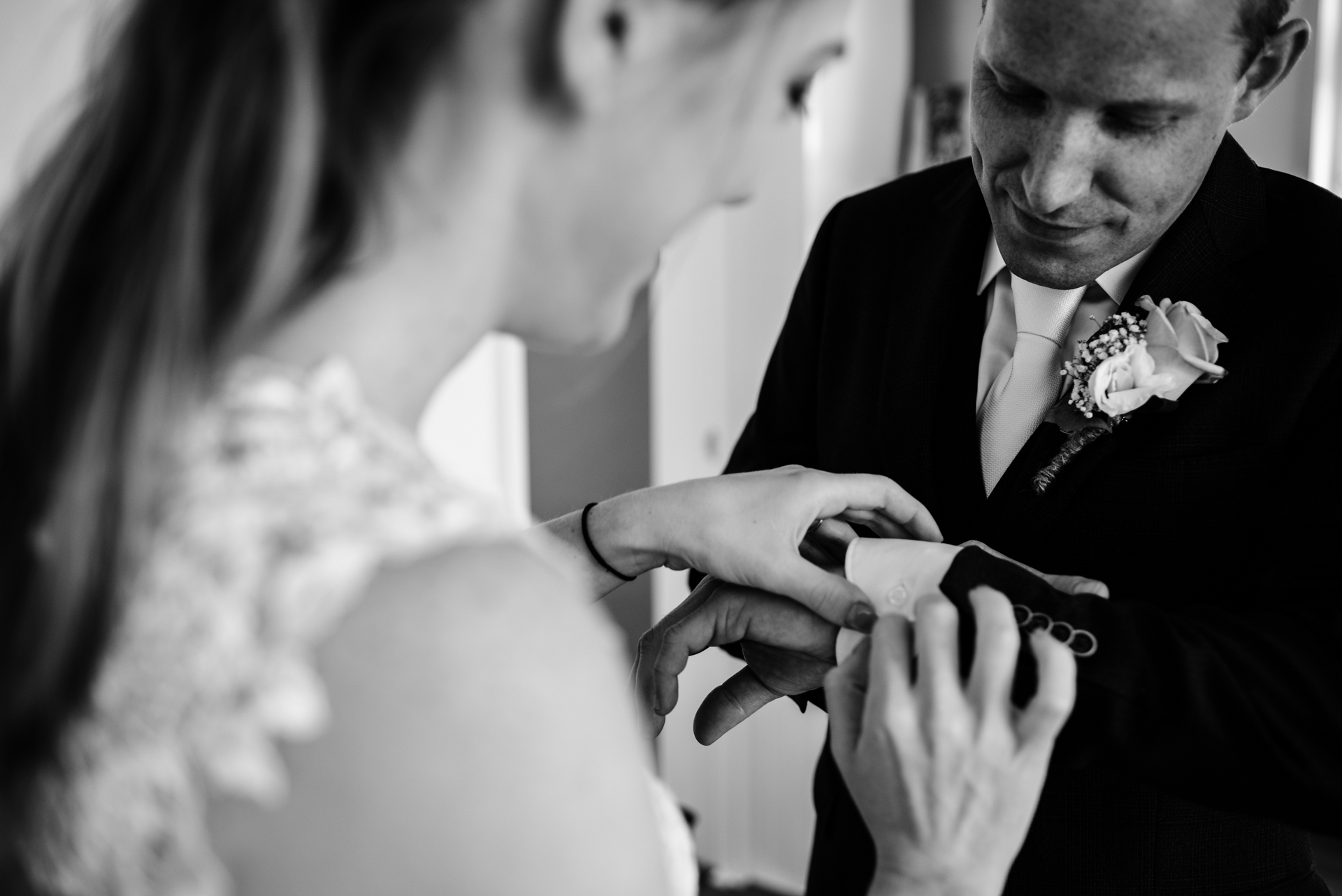 Friesland, NL Elopement Photography | Before the wedding, deciding to get ready togethe