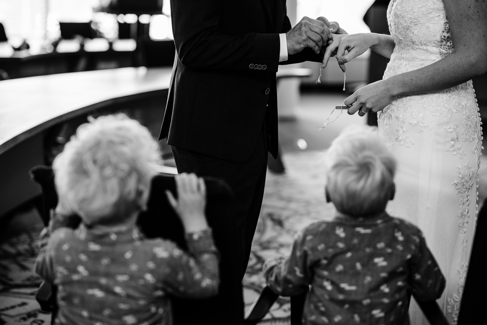 Netherlands Elopement Ceremony Images | The two young ring bearers, having fulfilled their duties