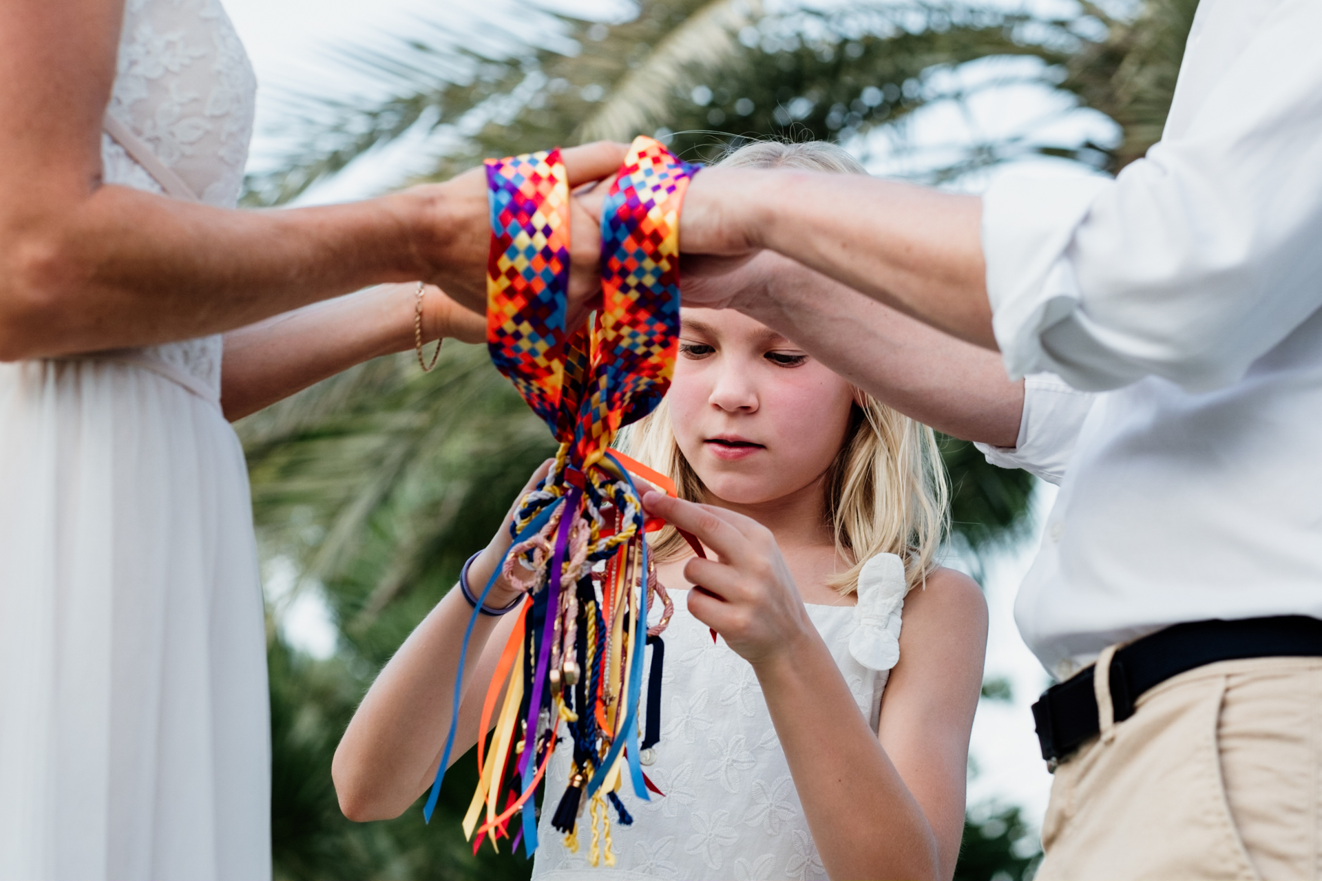 Dubai Elopement Ceremony Photography | A traditional hand-fasting ceremony
