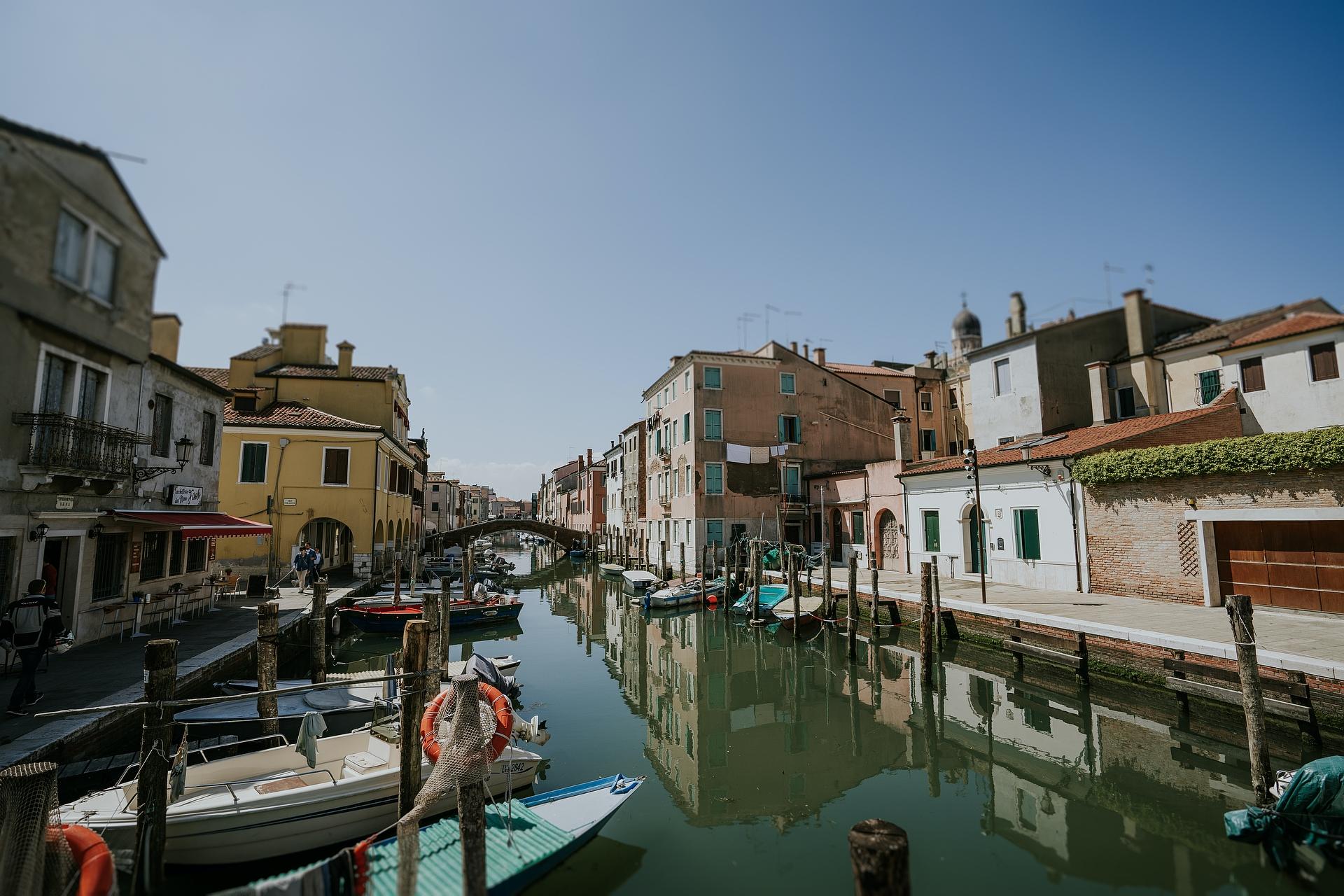 Chioggia, Venise Elopement Photographie d'Italie | C'est la ville de Chioggia où ils se sont mariés