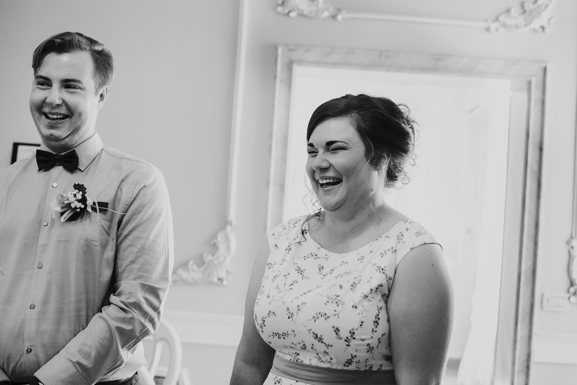 Venice Civil Ceremony Elopement Photos | Both are full of happiness after the 'yes'!