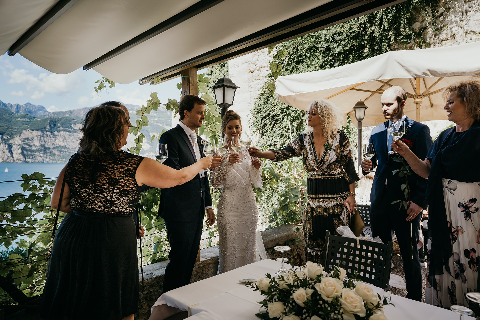 Paradiso Perduto Restaurant Event Venue Photos | A toast is made for the couple