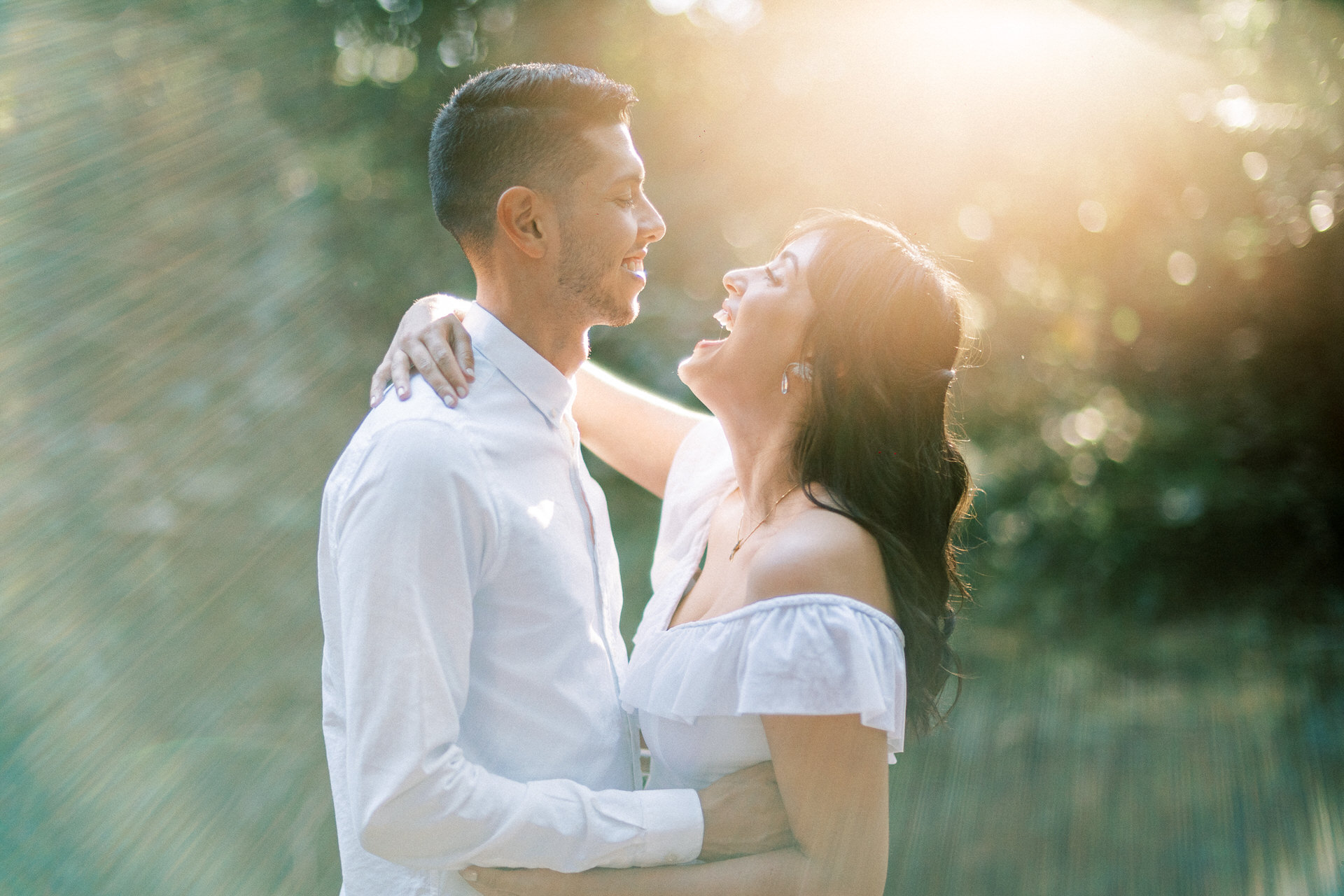 Brazil Elopement Couple Portrait Session | The groom and bride have a minute of relaxation and joy alone