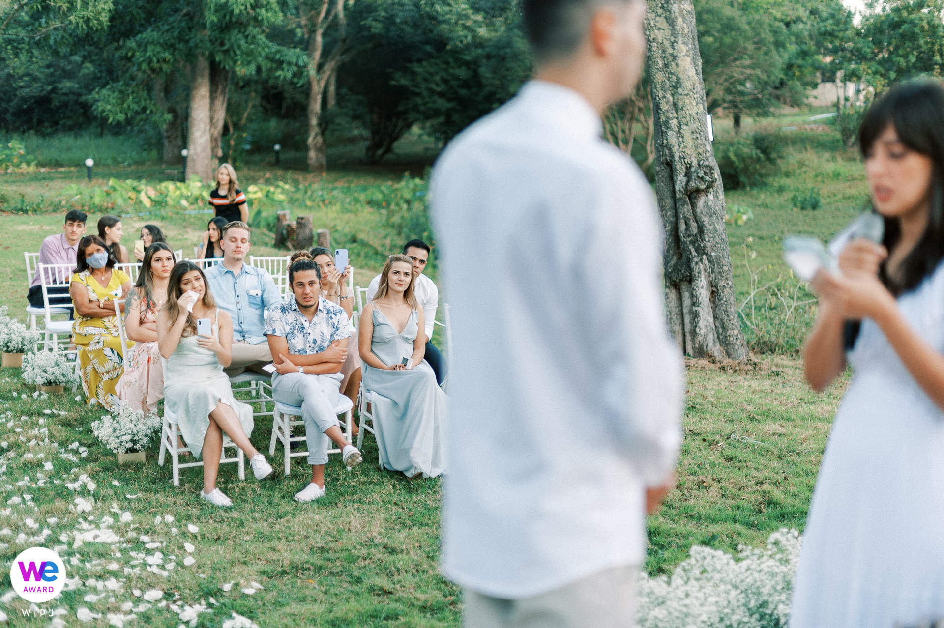Private Farm, Brazil Elopement Photography | The bride and groom, together with their brothers and family