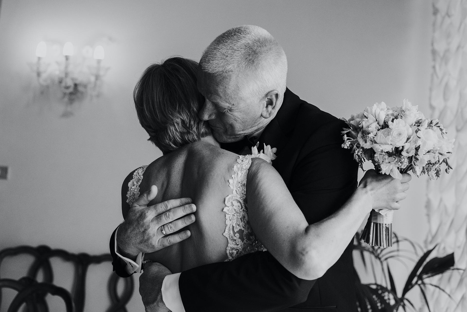 Venezia, Italy Town Hall Elopement Ceremony Photo   A congratulates hug for the bride