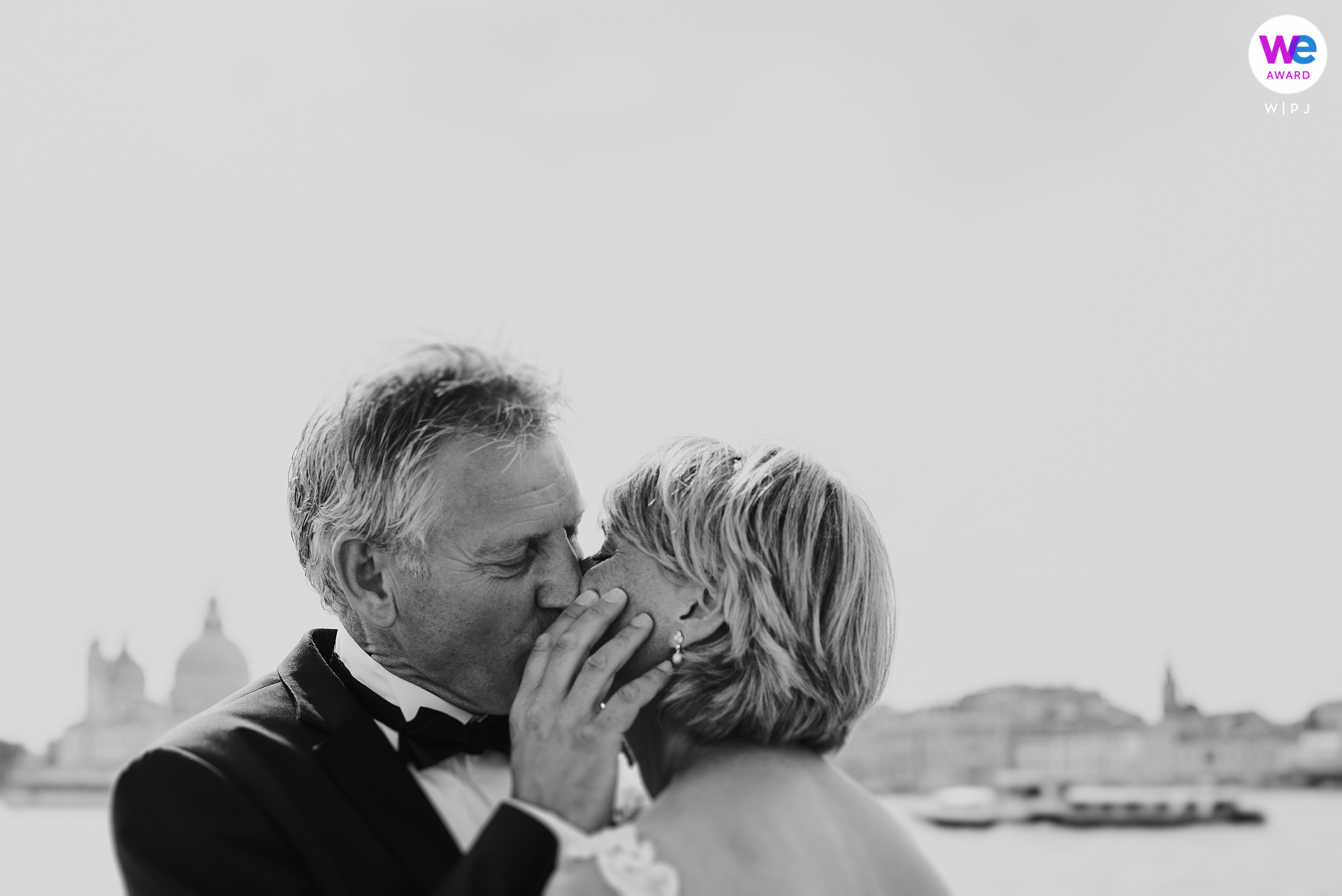 San Giorgio Island, Venice, Italy Elopement Photographer | A portrait of the couple on the Island of San Giorgio, a small stop before resuming navigation