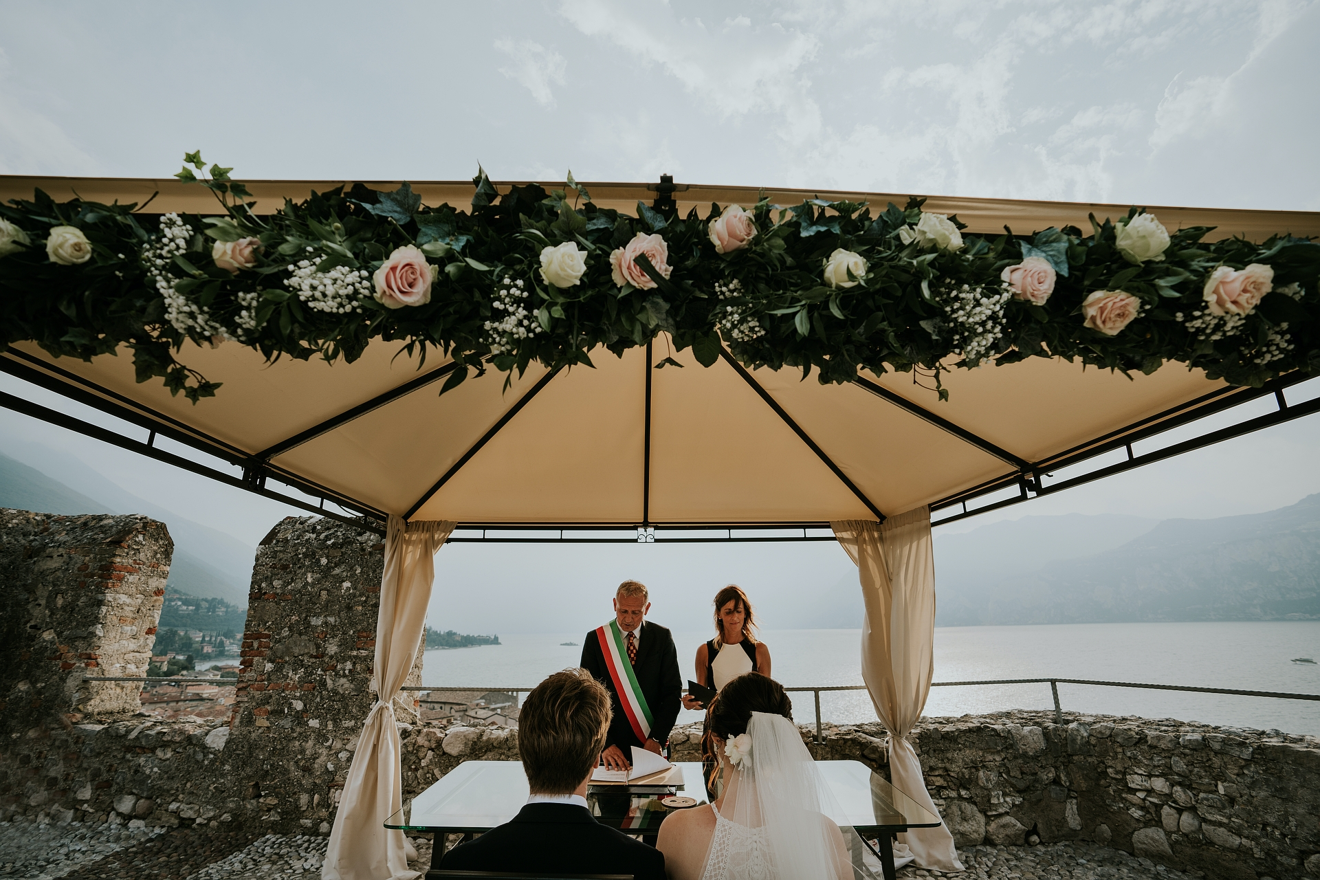 Terrazza Rivellino - Italy Elopement Ceremony Photo | A moment during the ceremony