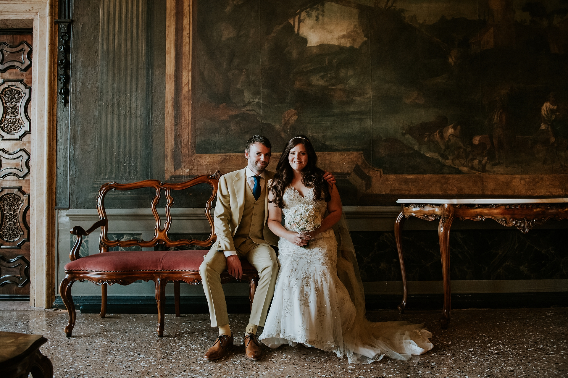 Elopement Photo, Venice Hotel - Ca'Sagredo Near Veneto | A portrait of the couple
