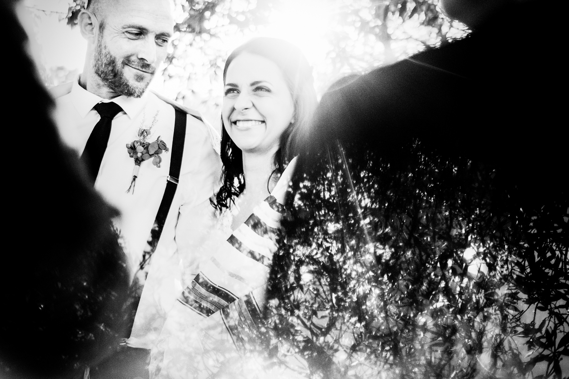 South Africa Outdoor Elopement Ceremony Photos | The groom looks lovingly at his new bride