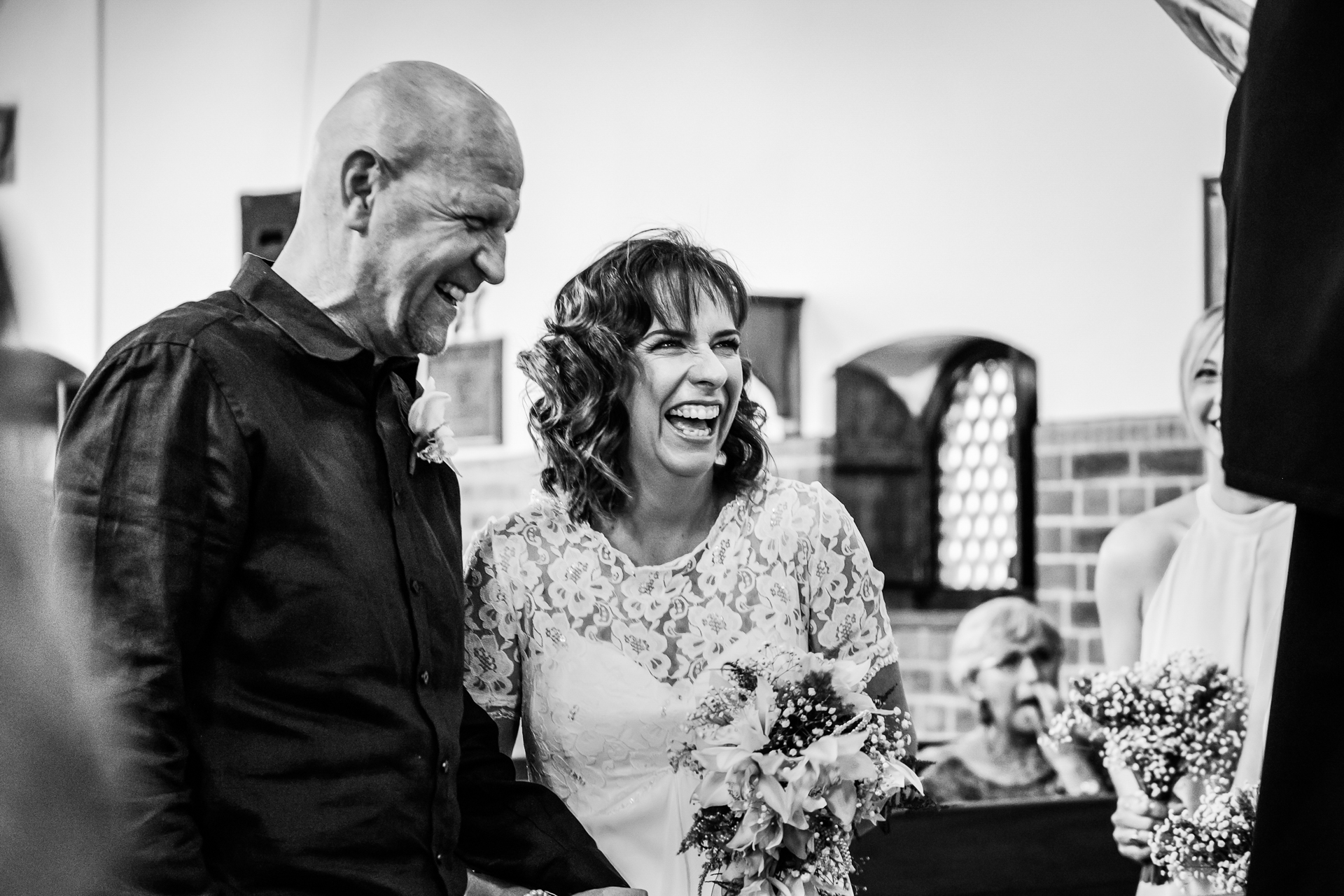 Garden Route Elopement Ceremony Picture | The happy couple shares a joke