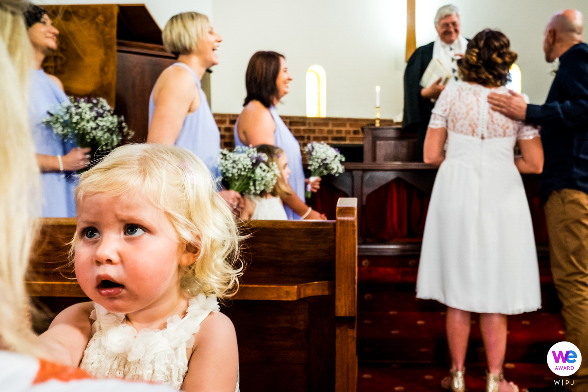 Glentana, Garden Route, South Africa Elopement Ceremony Photo | A young girl voices her dislike during the ceremony