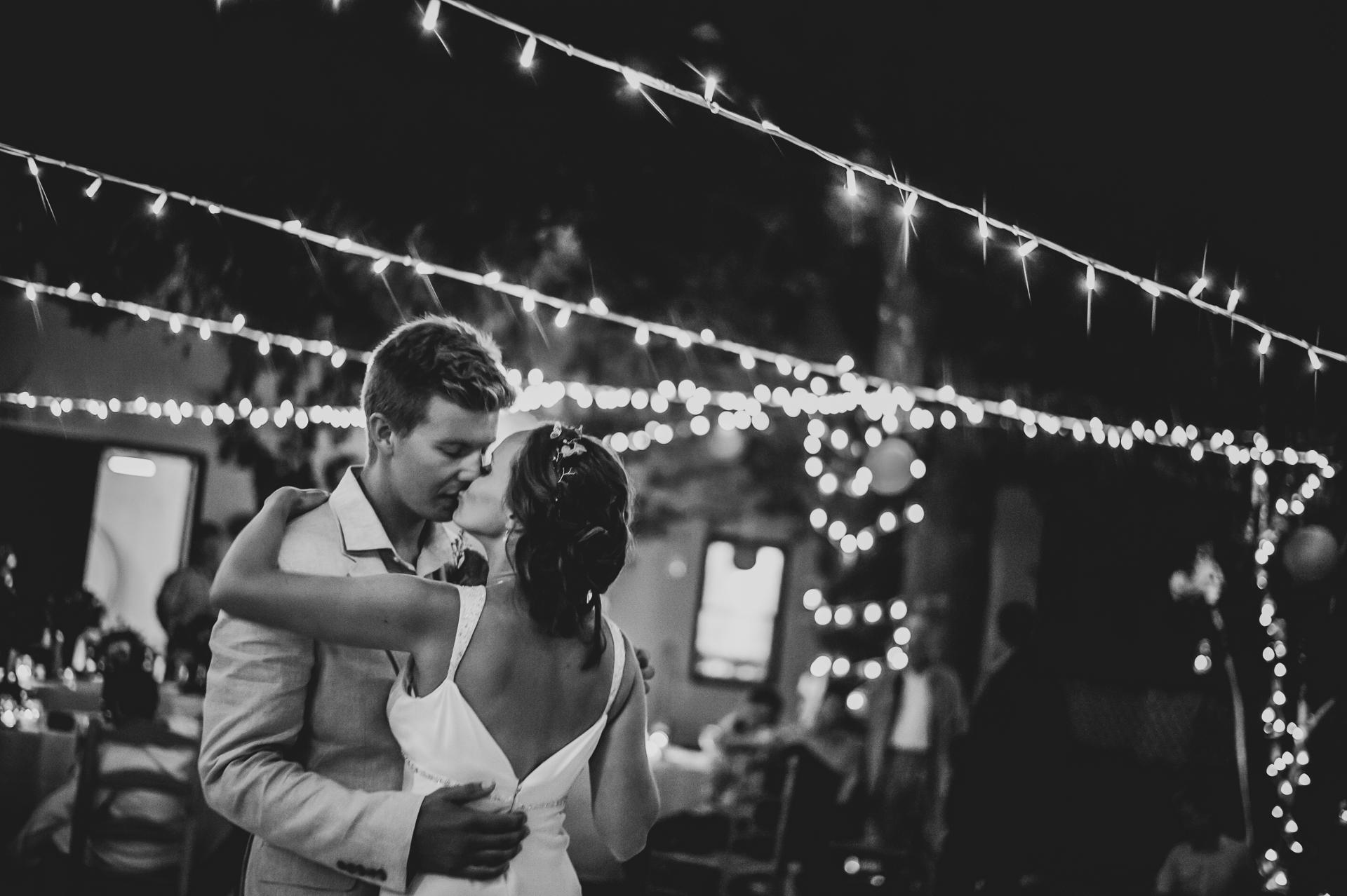 Western Cape, SA Elopement Venue Reception Photos | The bride and groom kiss