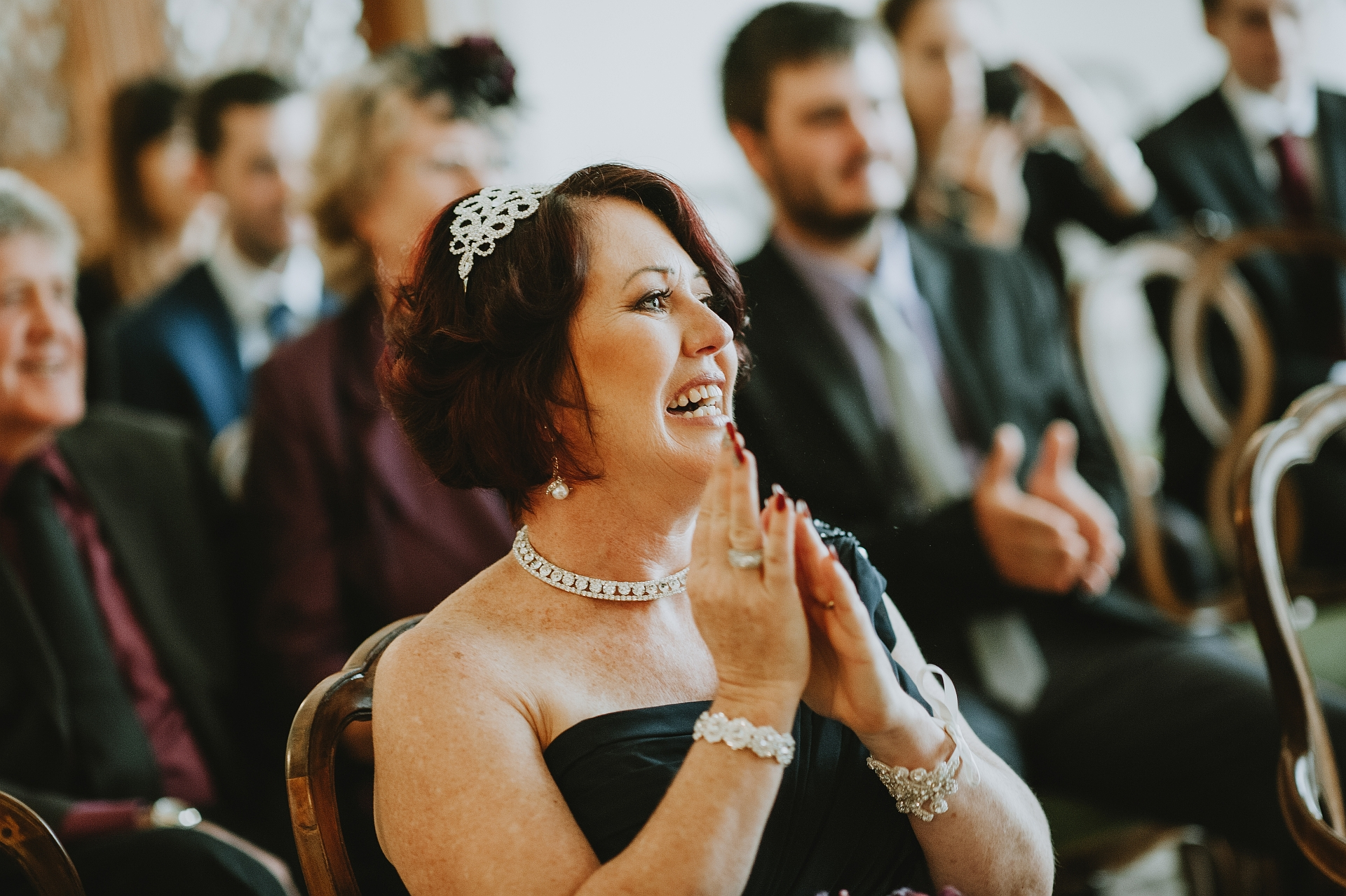 Beautiful Elopement Image - Palazzo Cavalli | The reaction of the mother of the bride