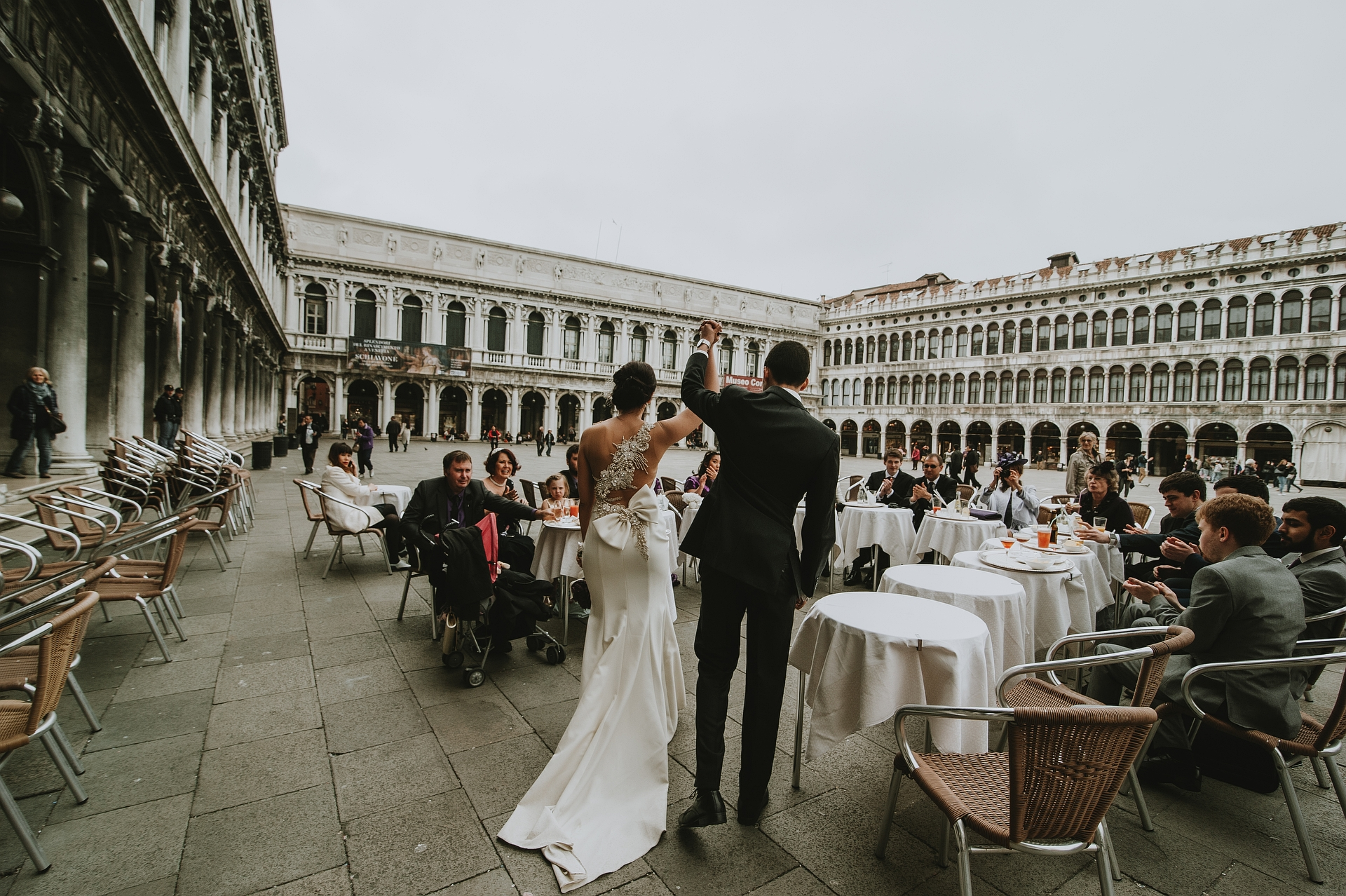 Romantic Elopement at Caffè Florian Venice | aperitif and a first toast, in the wonderful and famous San Marco square in Venice