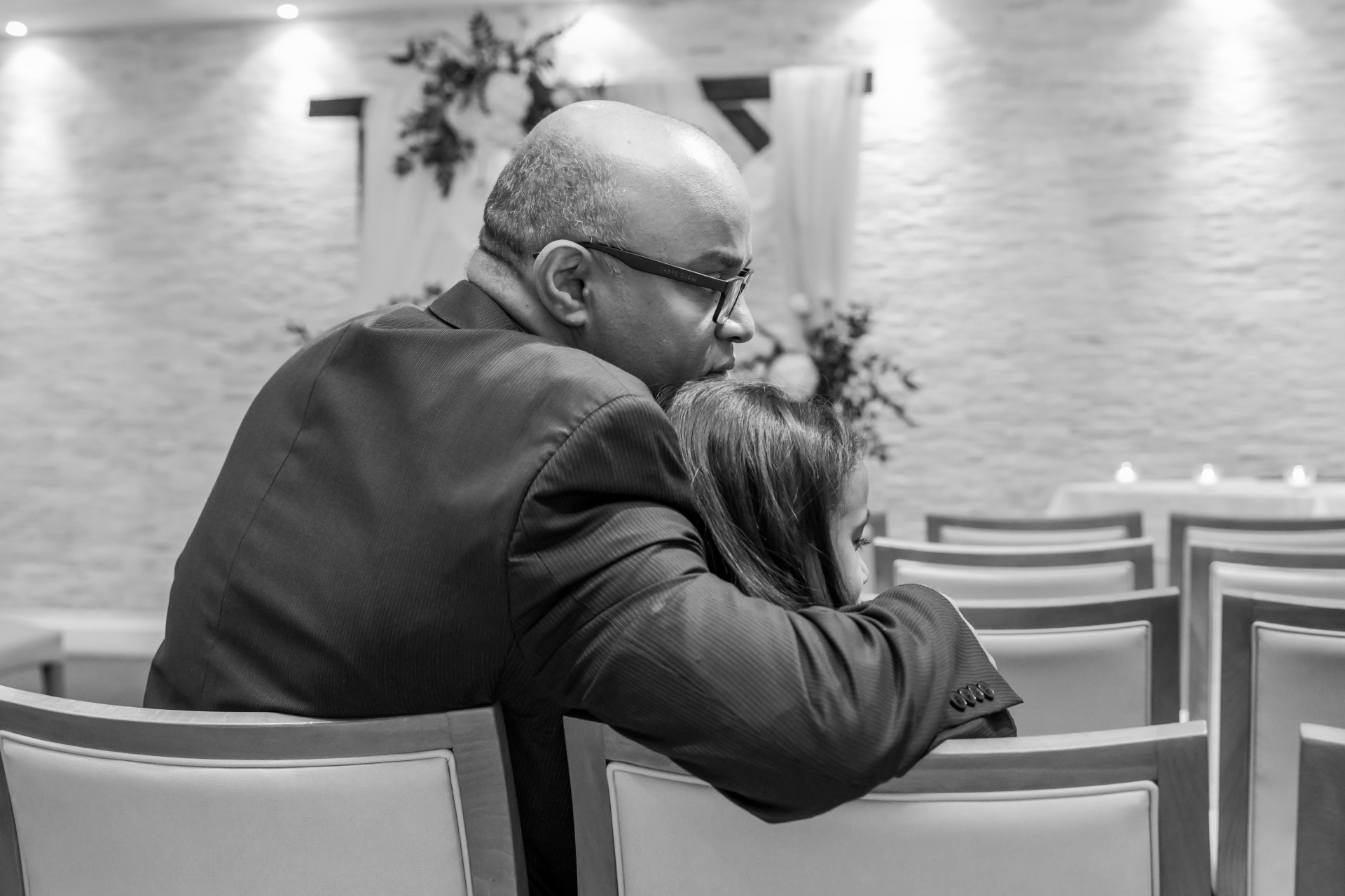Toronto Elopement Ceremony Picture from Canada | A close member from the family sharing a moment with his daughter
