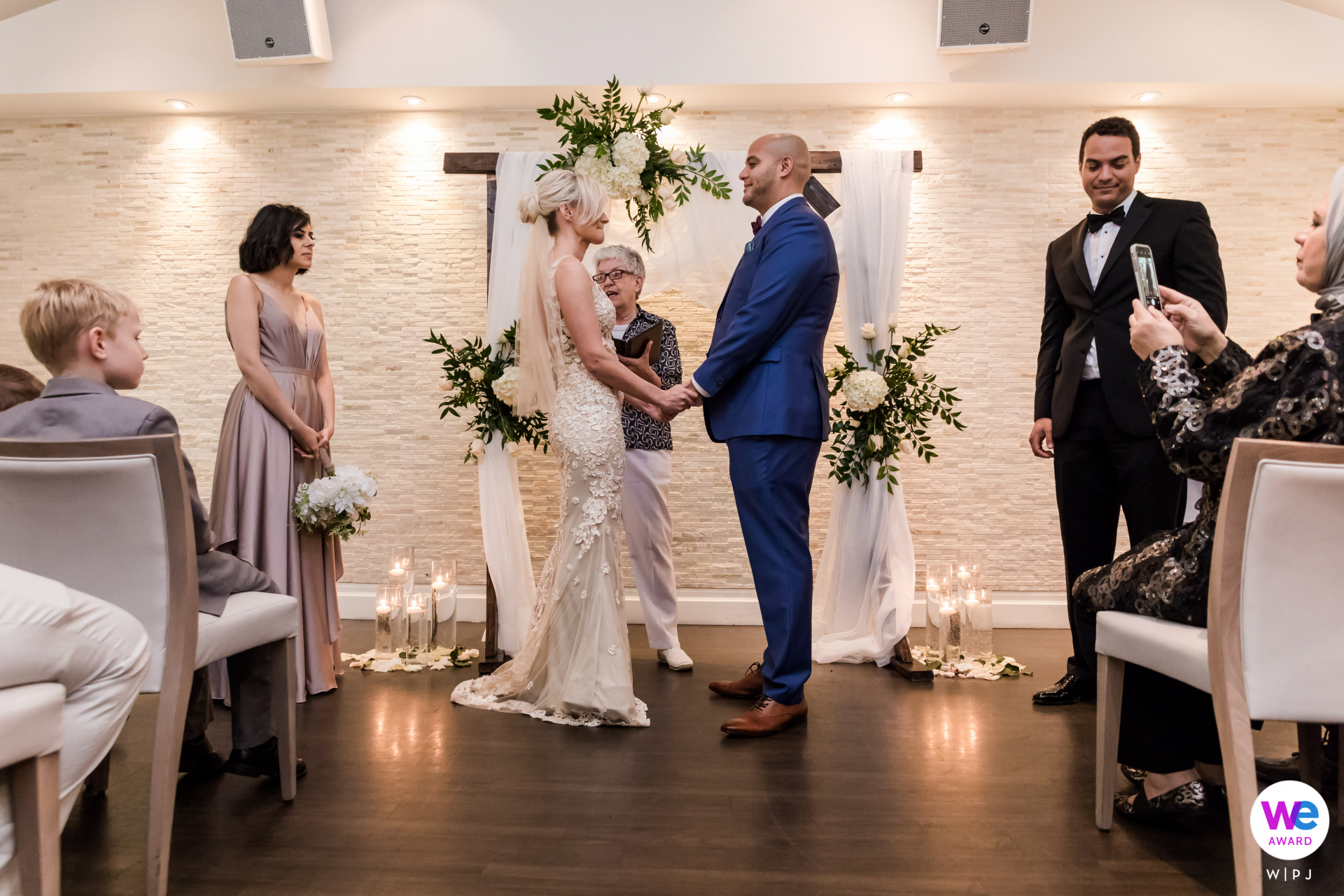 Sassafraz, Toronto, Canada Elopement Ceremony Photos | Madly in love, the couple decided to tie the knot at the iconic Sassafraz Restaurant wedding venue