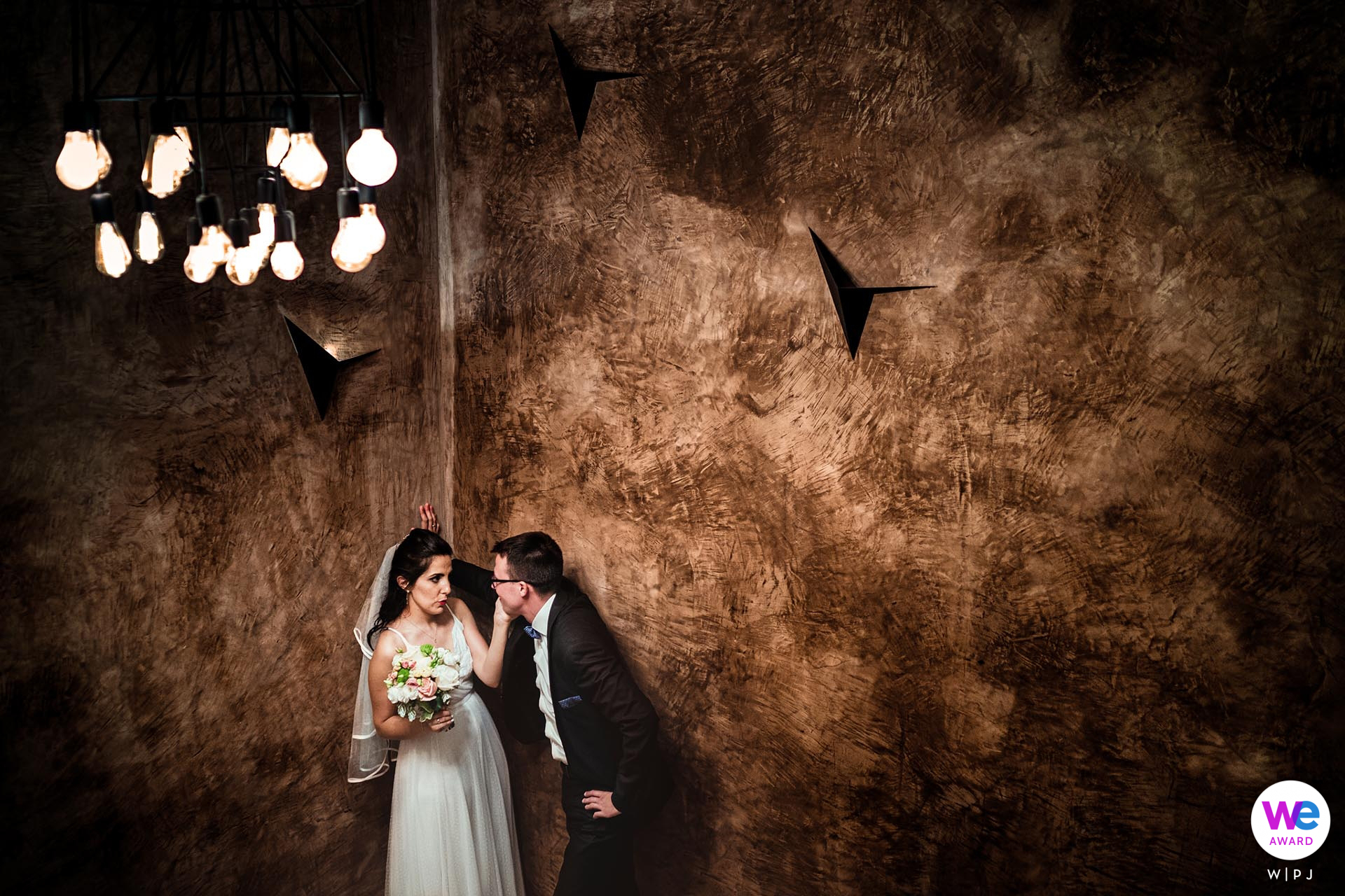 Club Horizont, Varna, Bulgaria Elopement Portrait Session | The bride and groom share some private time together before leaving to celebrate with their guests