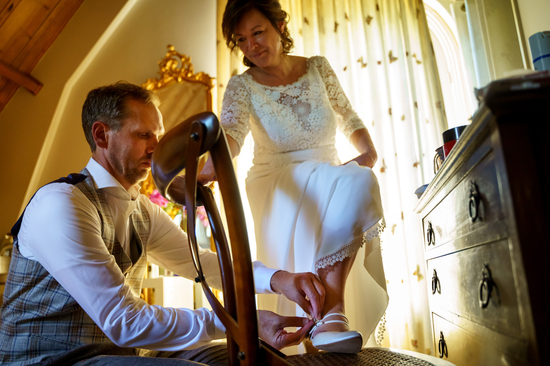 Gaia Hotel, Netherlands Elopement Picture | The bride smiles endearingly