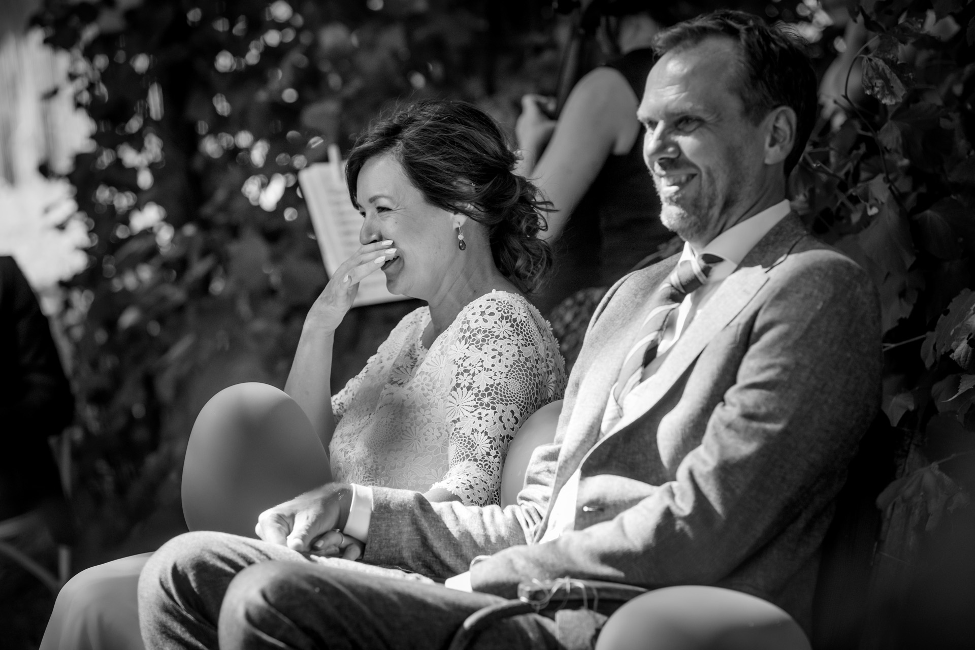NL Outdoor Elopement Ceremony Photo | The bride and groom giggled with joy throughout much of their ceremony