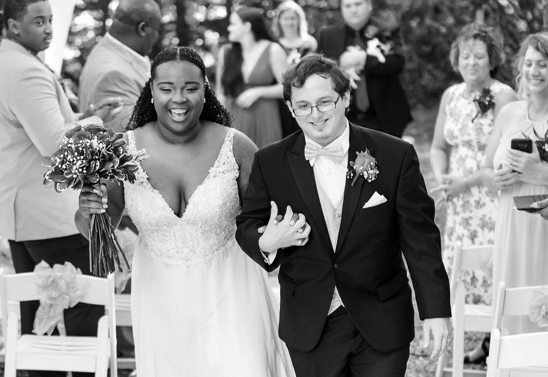 Planning For Your Backyard Wedding Images | The newlyweds celebrate together