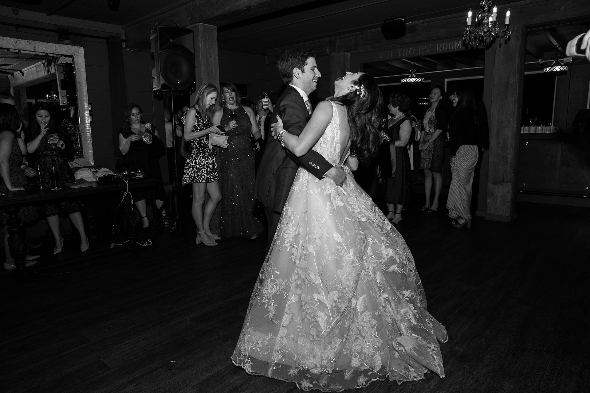 California Elopement Reception Venue Photo   bride and groom hit the dance floor for the first time