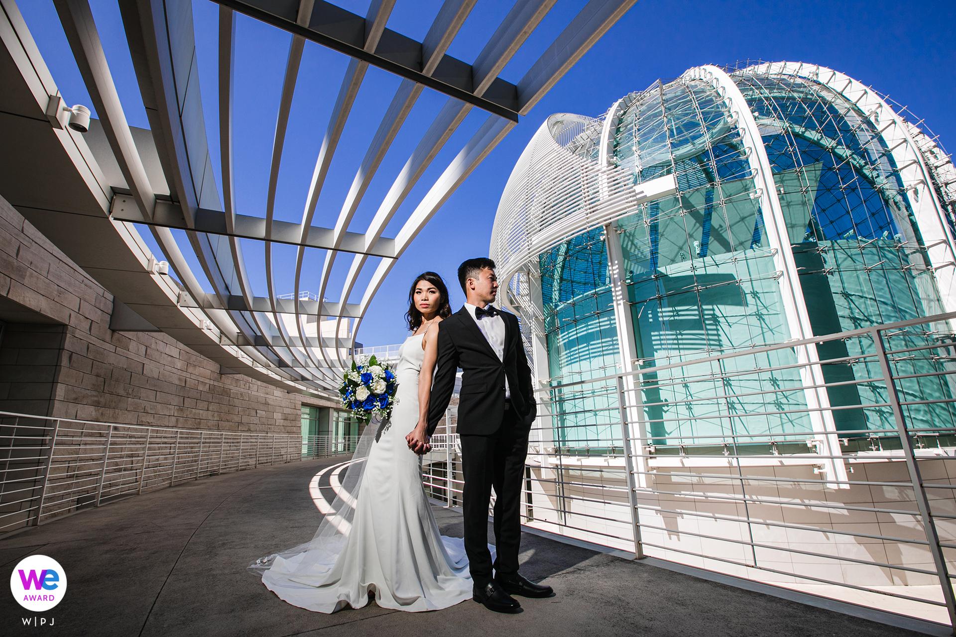 San Jose City Hall Elopement Portrait Photographer | Couple portrait session outside