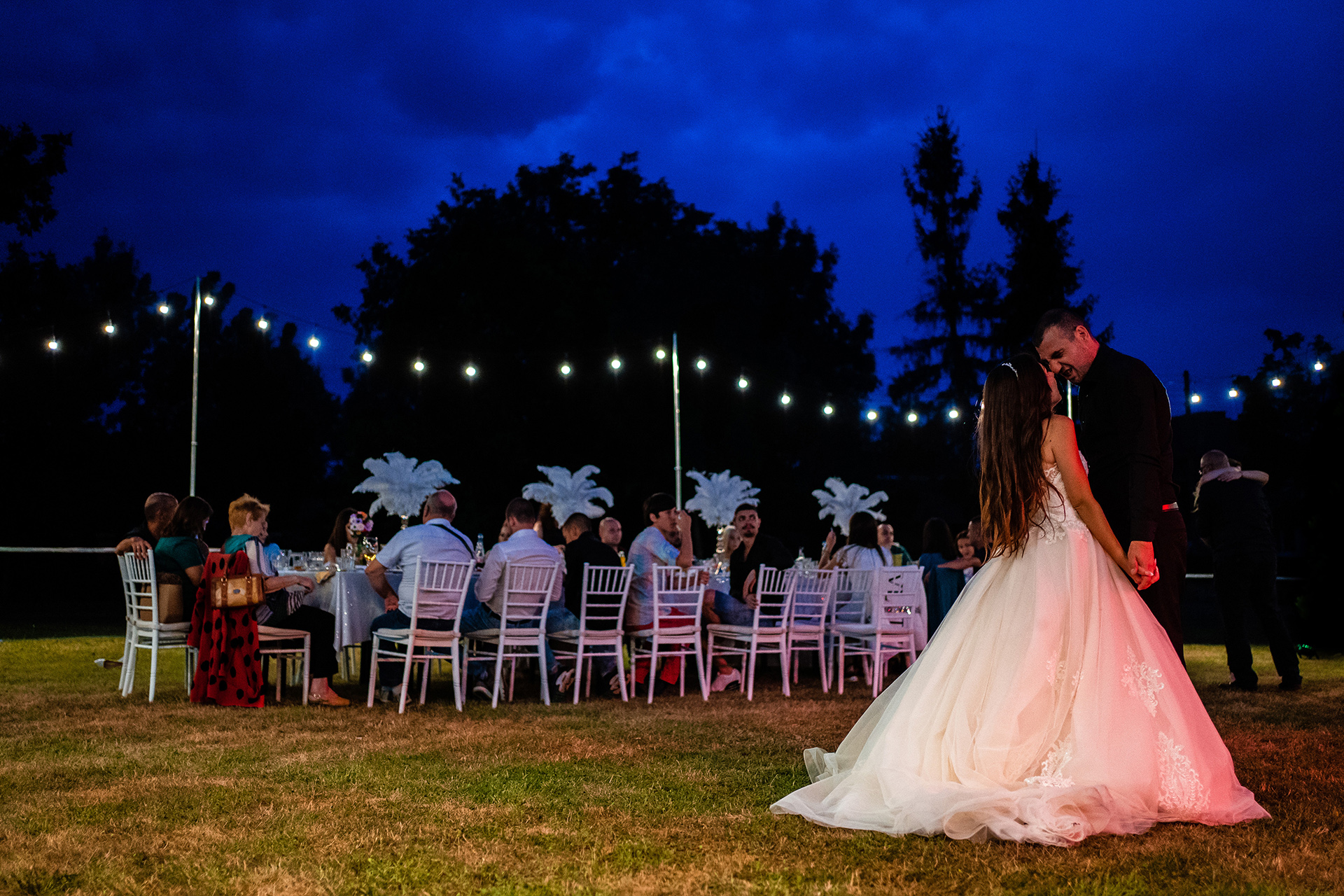 Bulgaria Elopement Venue Images |  The first dance of the couple under the blue sky outdoors