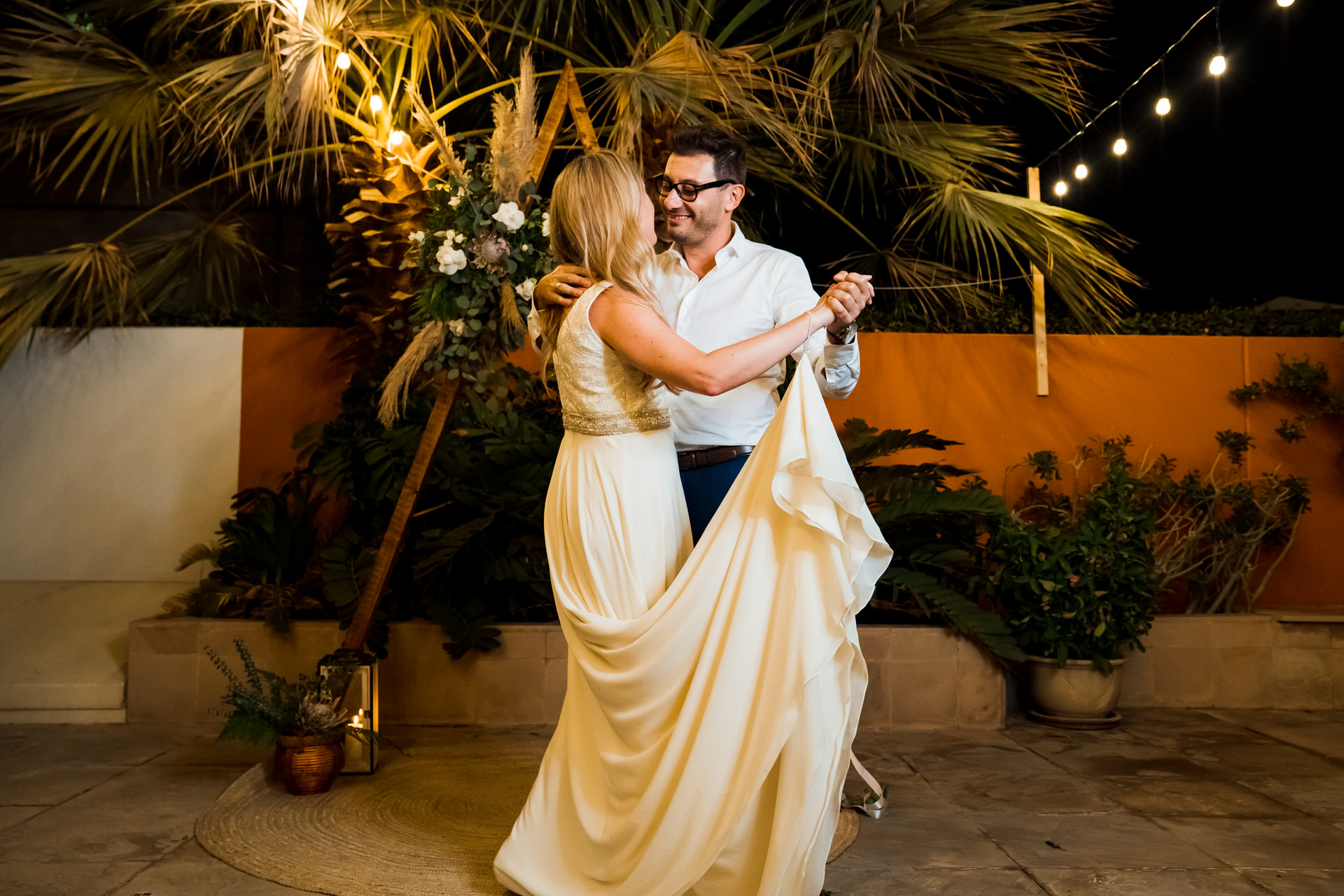 Elopement Photographer - Dubai Weddings | A moment from the couple's first dance