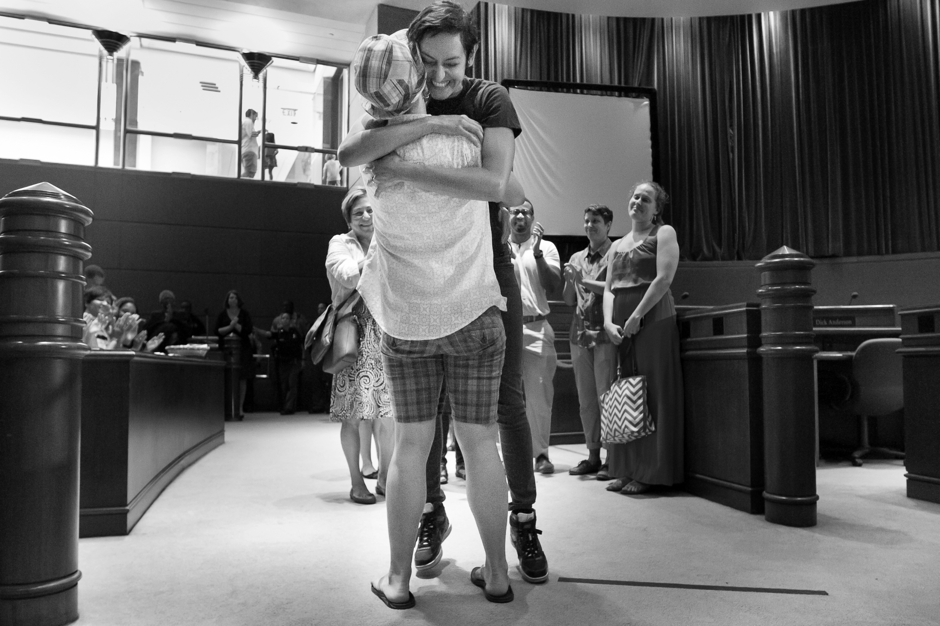 Georgia Elopements in ATL | The couple go in for the hug