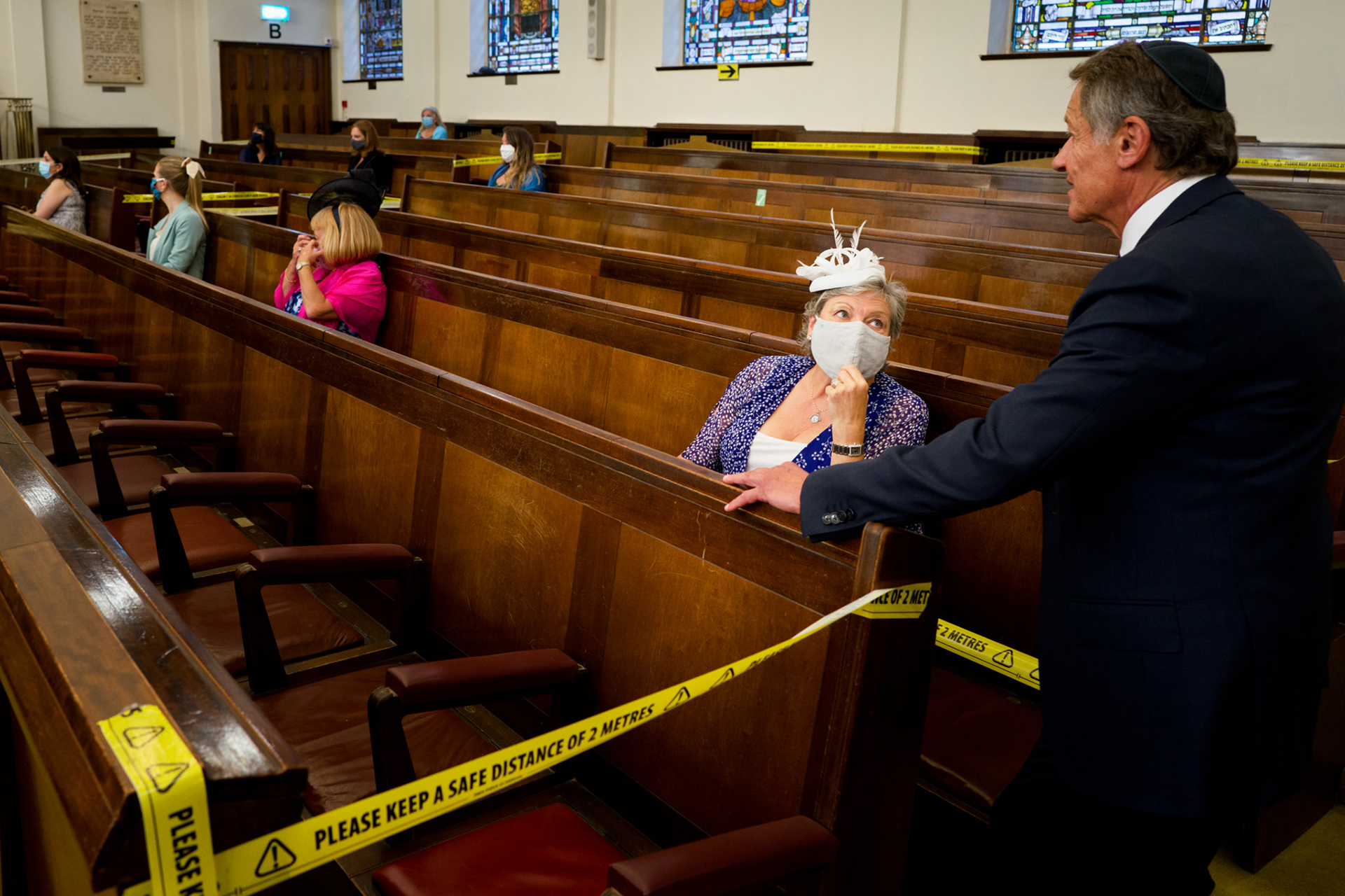 Central - United Synagogue Wedding Elopement Photography | Evidence of the new COVID-19 guidelines in force